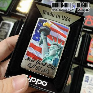 Zippo 200 Statue Of Liberty Brushed Chrome