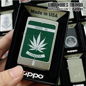 Zippo 205 Marijuana Made In Canada Sign