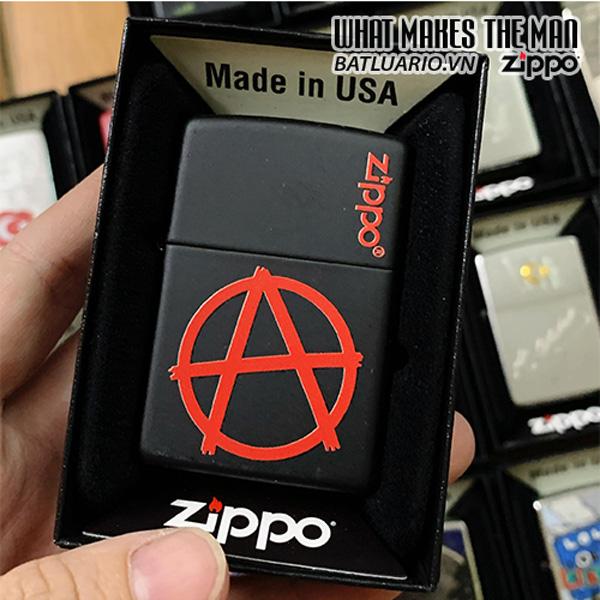 Zippo 218 Anarchy Zippo Logo Design