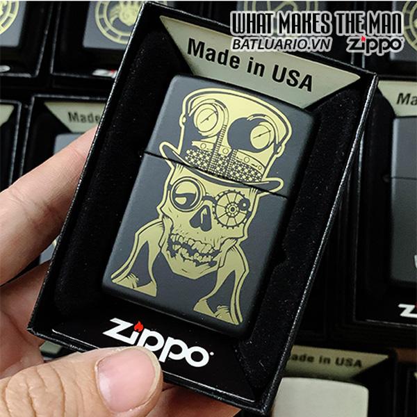 Zippo 218 Skull Steampunk Design