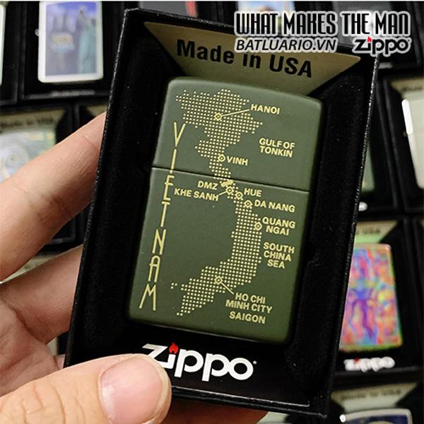 Zippo 221 VIETNAM Dot Map