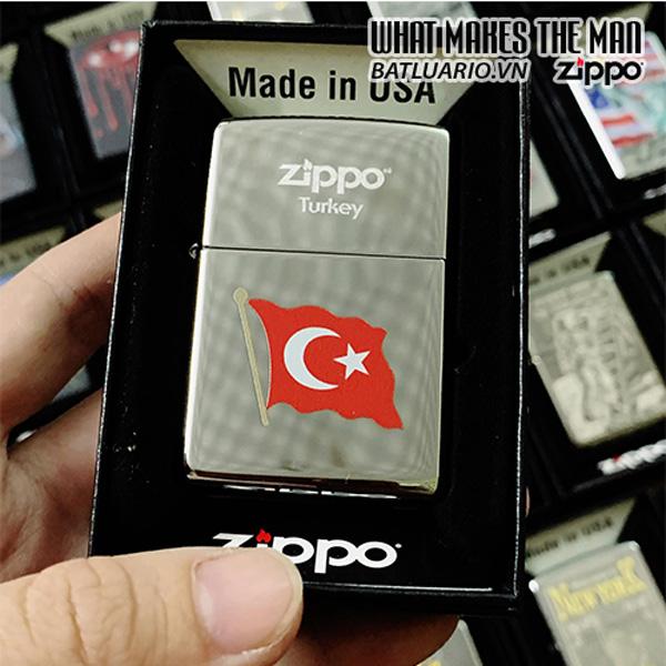 Zippo 250 Turkish Flag Color
