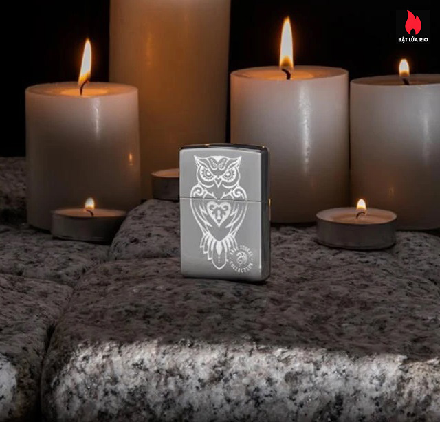 Zippo 49101 - Zippo Anne Stokes Owl High Polish Chrome 1