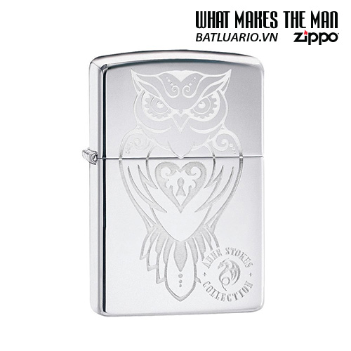 Zippo 49101 - Zippo Anne Stokes Owl High Polish Chrome