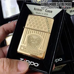 Zippo Armor 169 Duty Honor Country High Polish Brass
