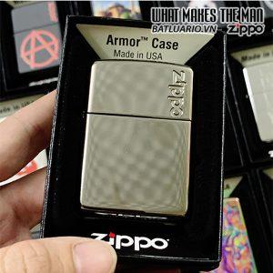 Zippo Armor Black Ice Logo Zippo