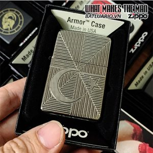 Zippo Armor Turkey Star And Moon Black Ice