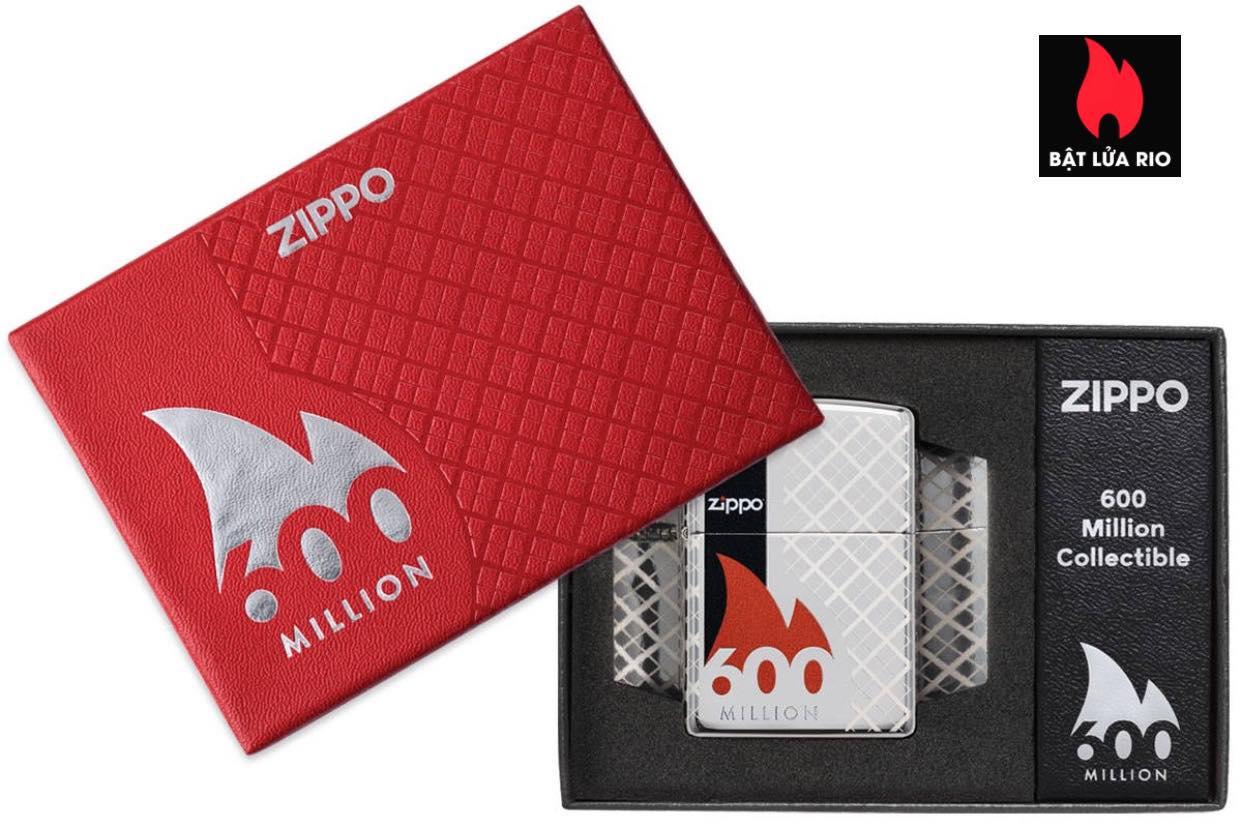 Zippo 600 Millionth Collectible - Zippo 49272- Zippo Celebrates 600 Million Lighters - Chiếc bật lửa Zippo thứ 600 triệu trong lịch sử - Bộ Sưu Tập Zippo 600 triệu