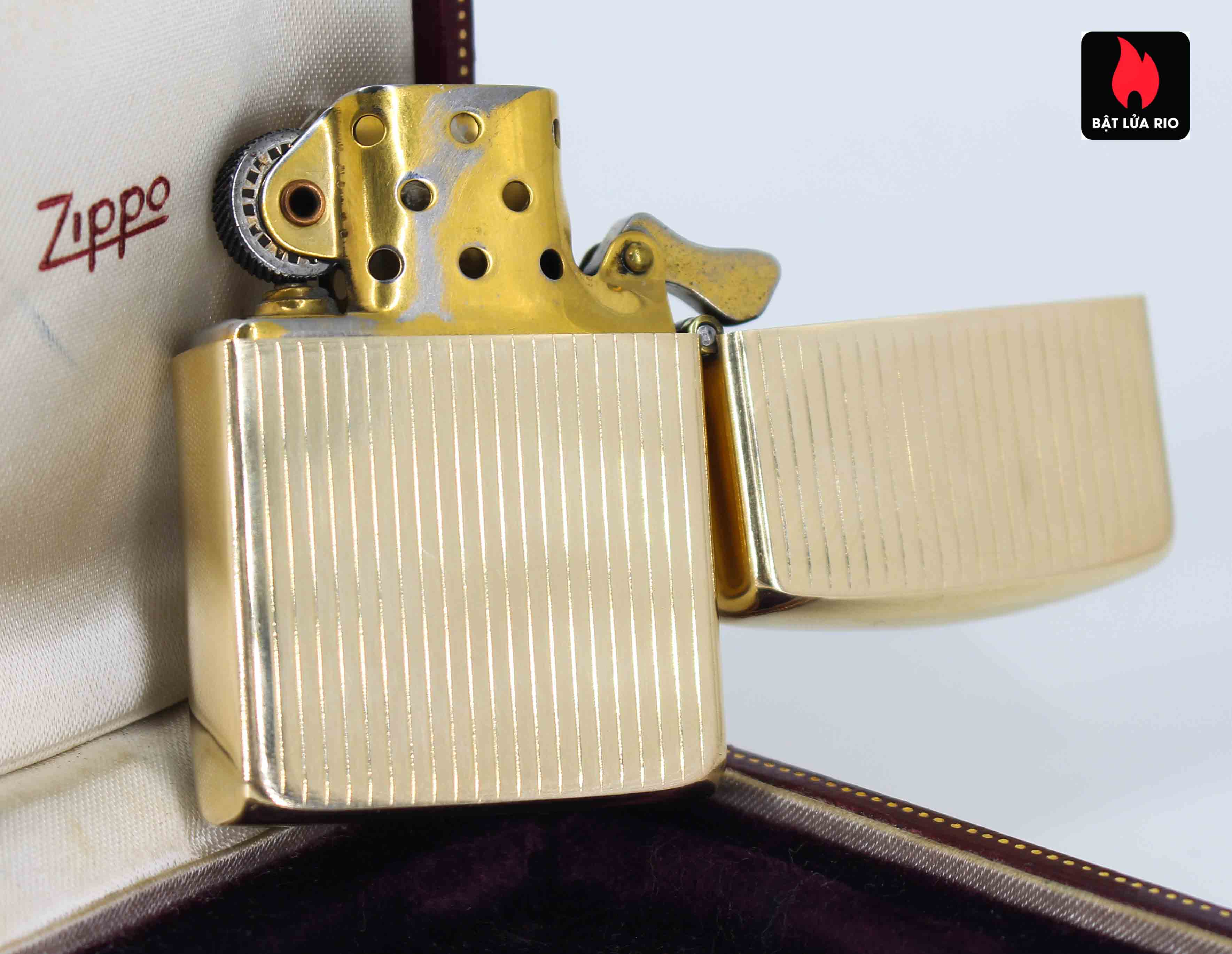 Hiếm - Zippo 1950s - Solid Gold 14k - Vàng Nguyên Khối 14k 12
