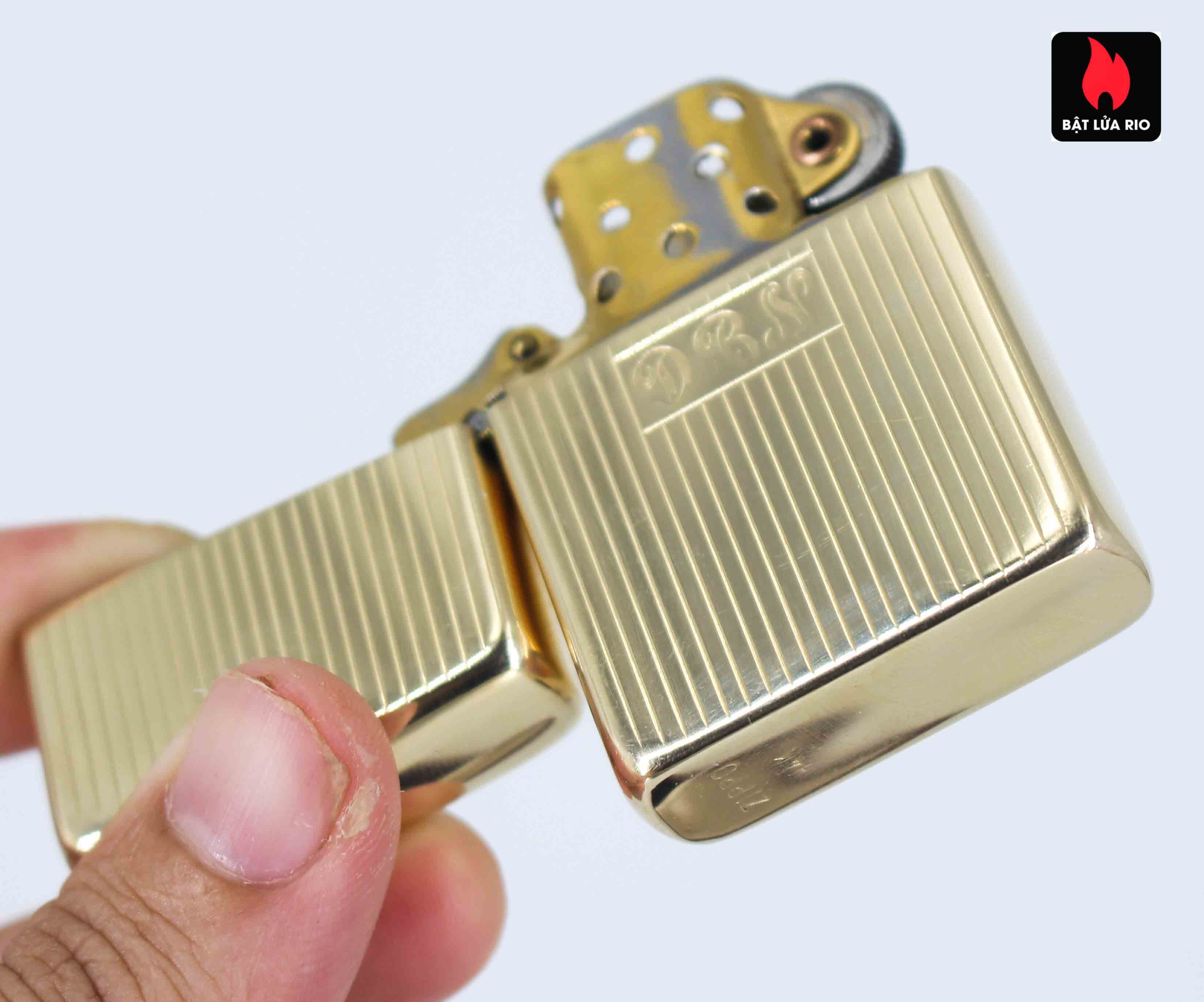 Hiếm - Zippo 1950s - Solid Gold 14k - Vàng Nguyên Khối 14k 14