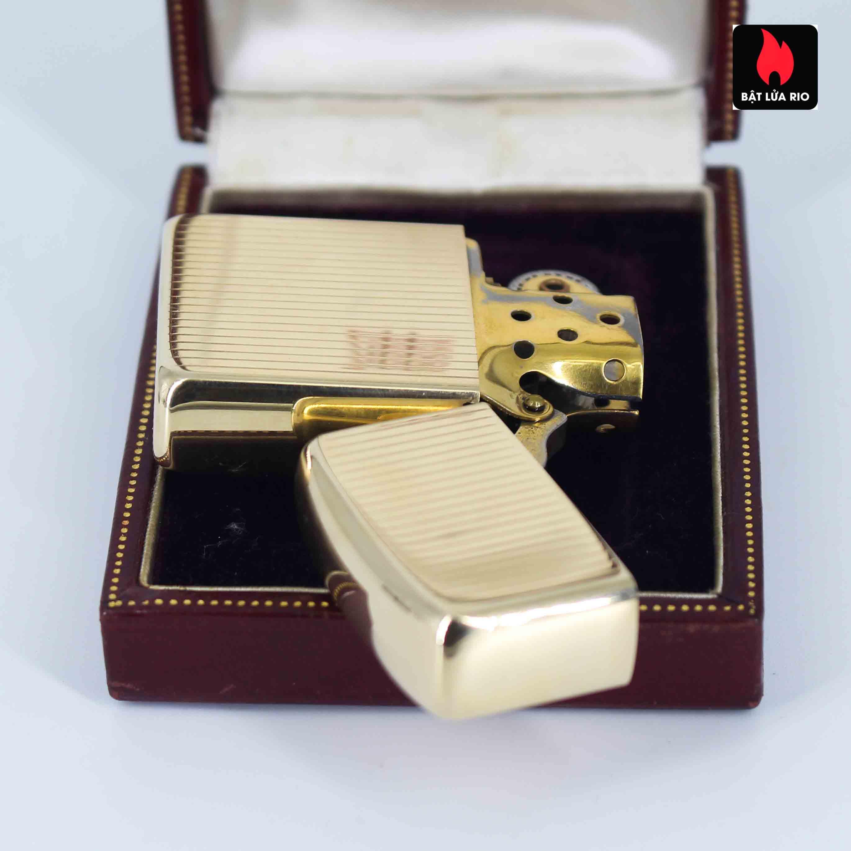Hiếm - Zippo 1950s - Solid Gold 14k - Vàng Nguyên Khối 14k 2