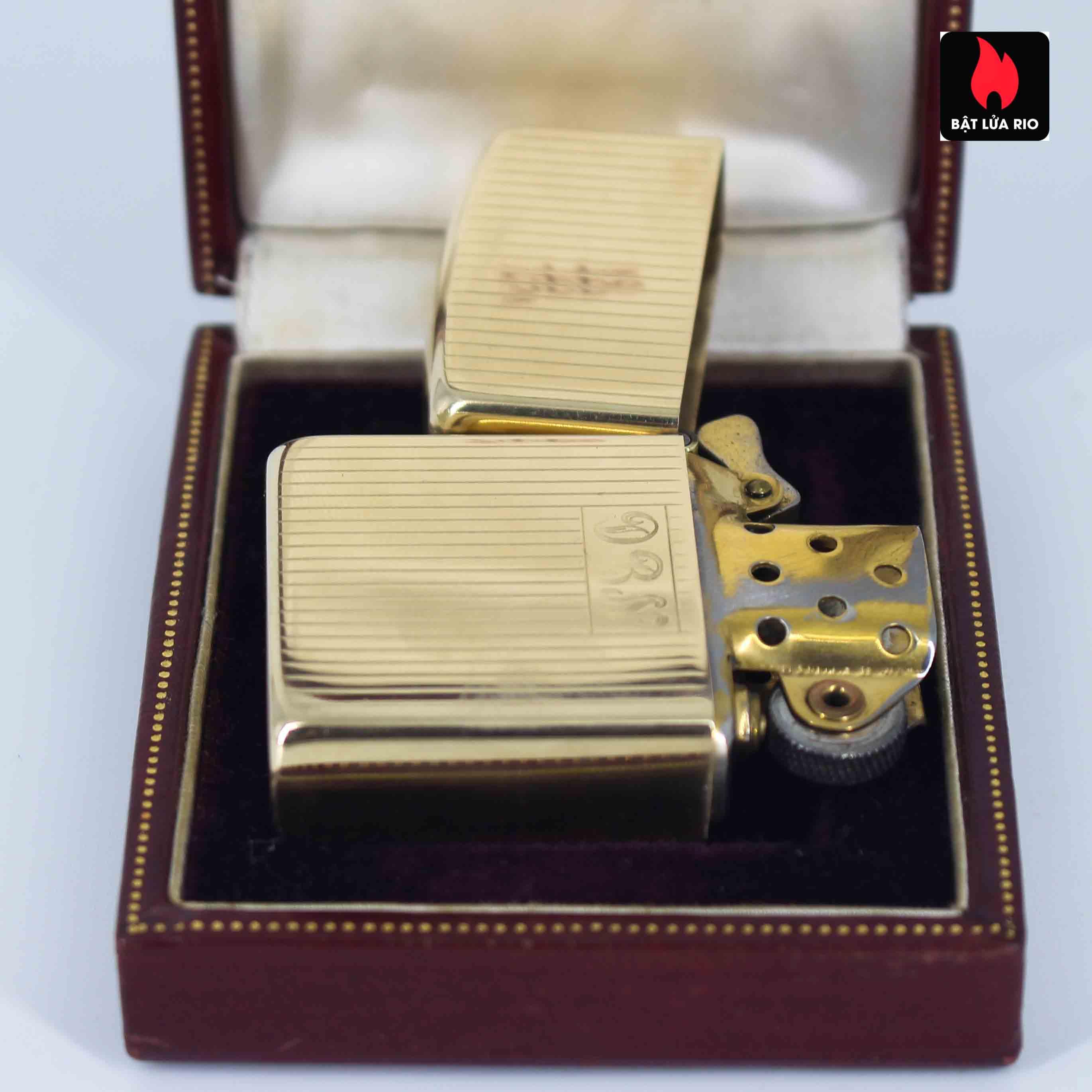 Hiếm - Zippo 1950s - Solid Gold 14k - Vàng Nguyên Khối 14k 3