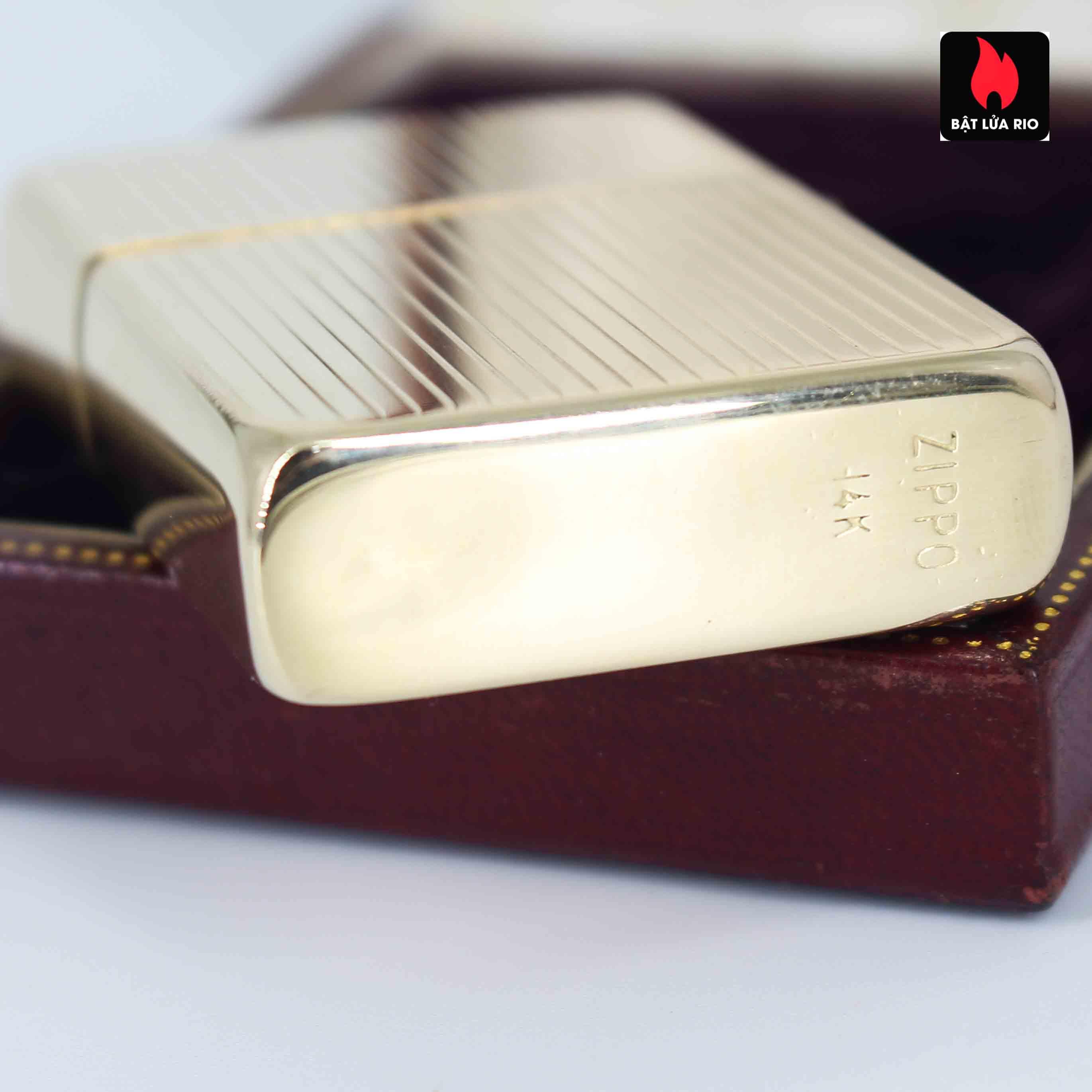 Hiếm - Zippo 1950s - Solid Gold 14k - Vàng Nguyên Khối 14k 4
