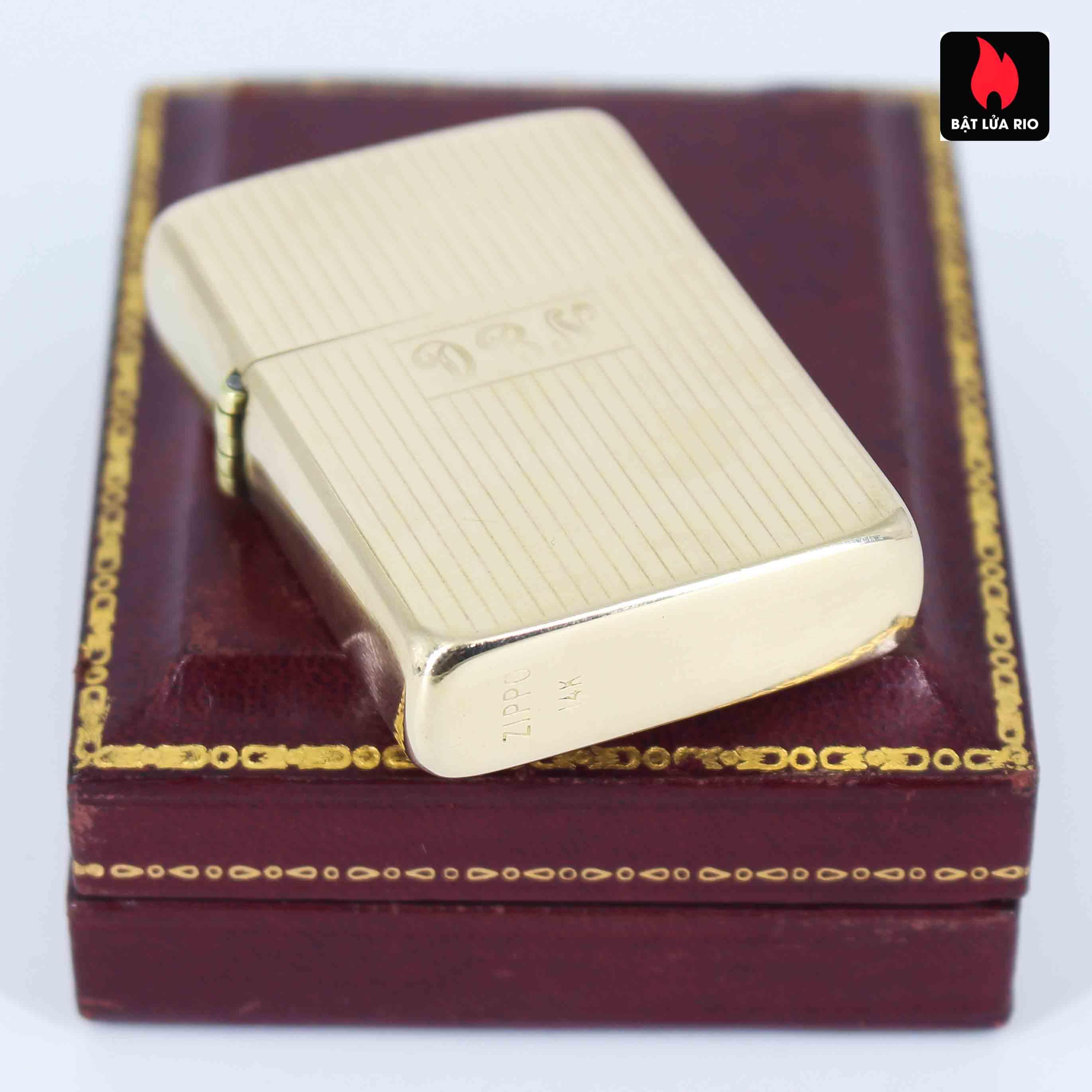 Hiếm - Zippo 1950s - Solid Gold 14k - Vàng Nguyên Khối 14k 6