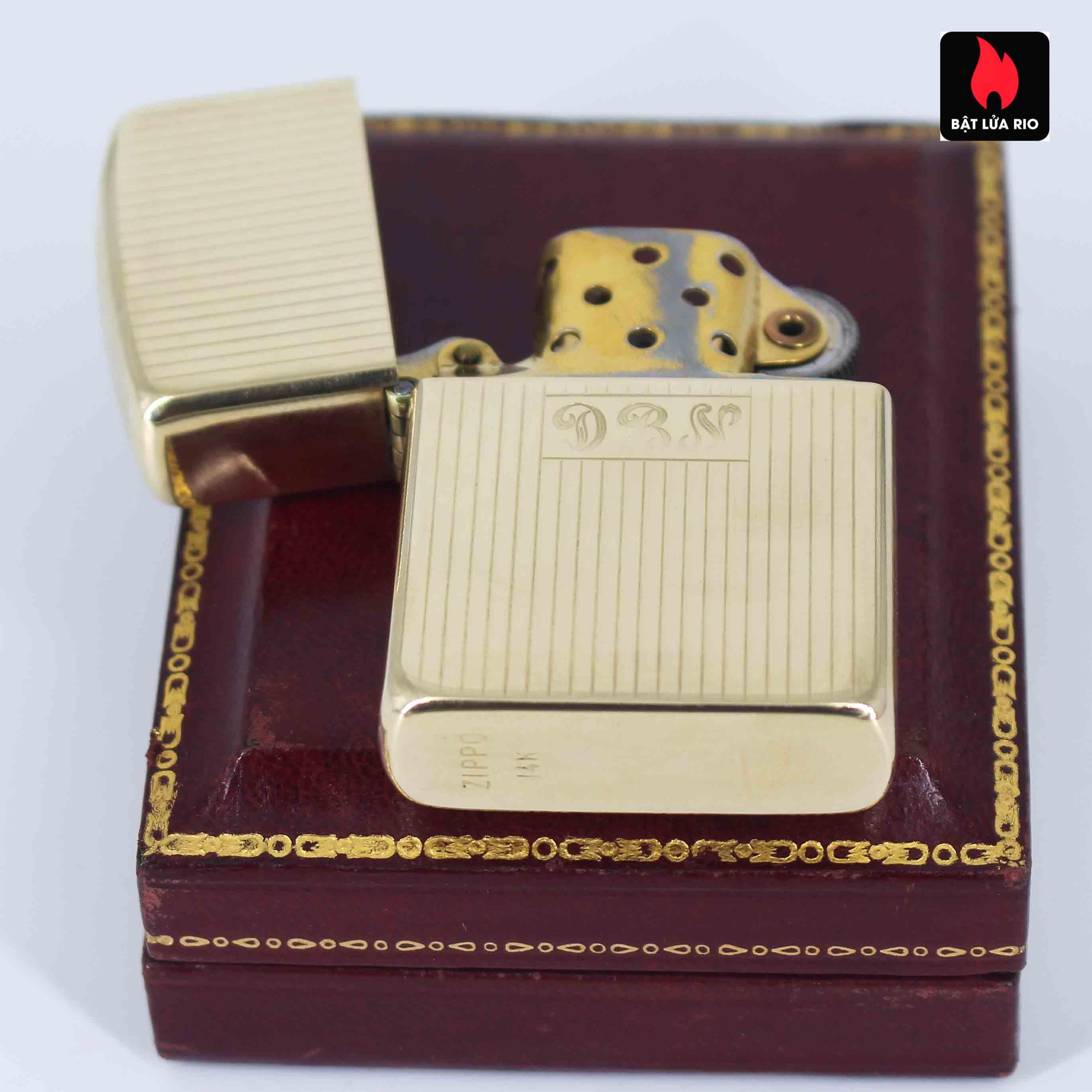 Hiếm - Zippo 1950s - Solid Gold 14k - Vàng Nguyên Khối 14k 7