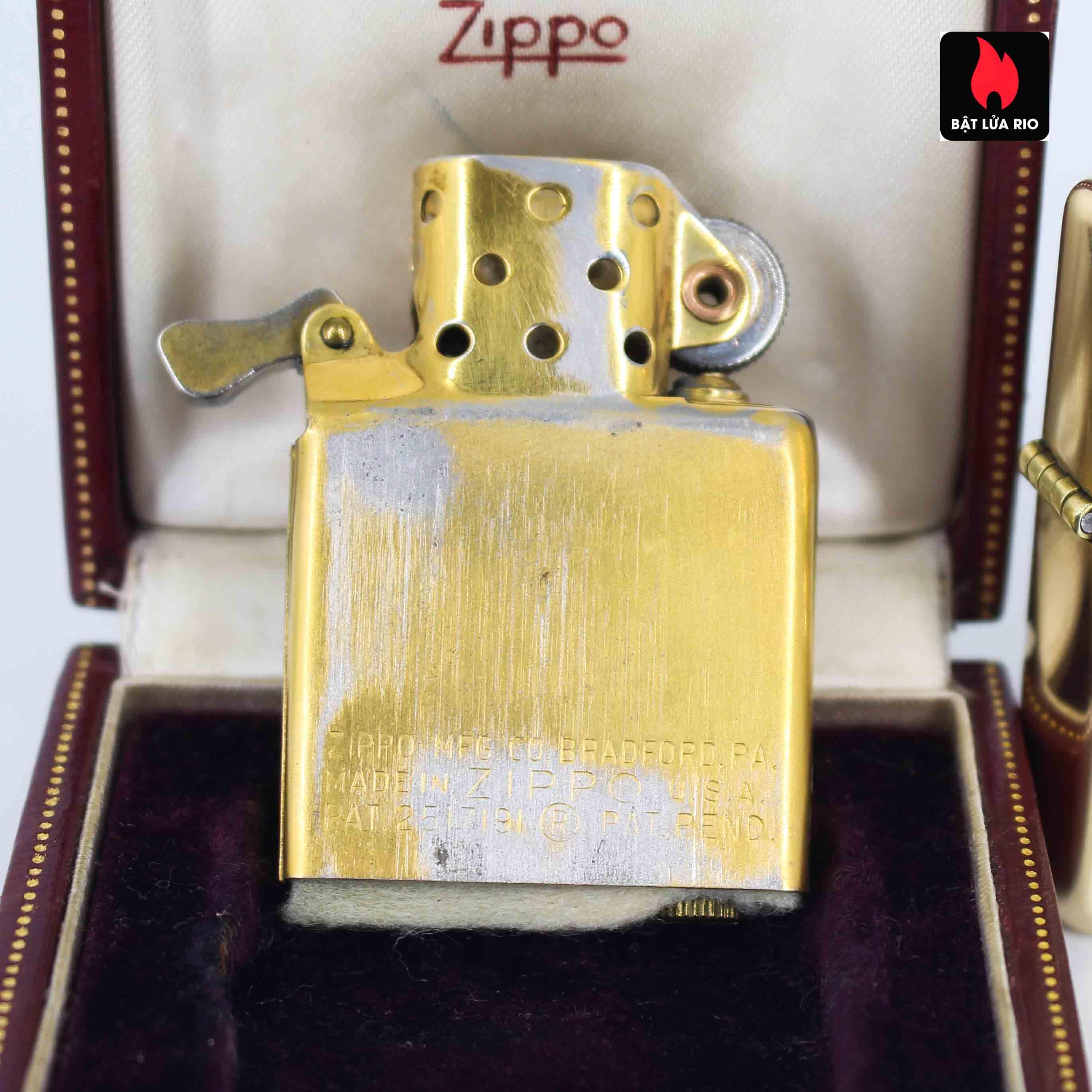 Hiếm - Zippo 1950s - Solid Gold 14k - Vàng Nguyên Khối 14k 9