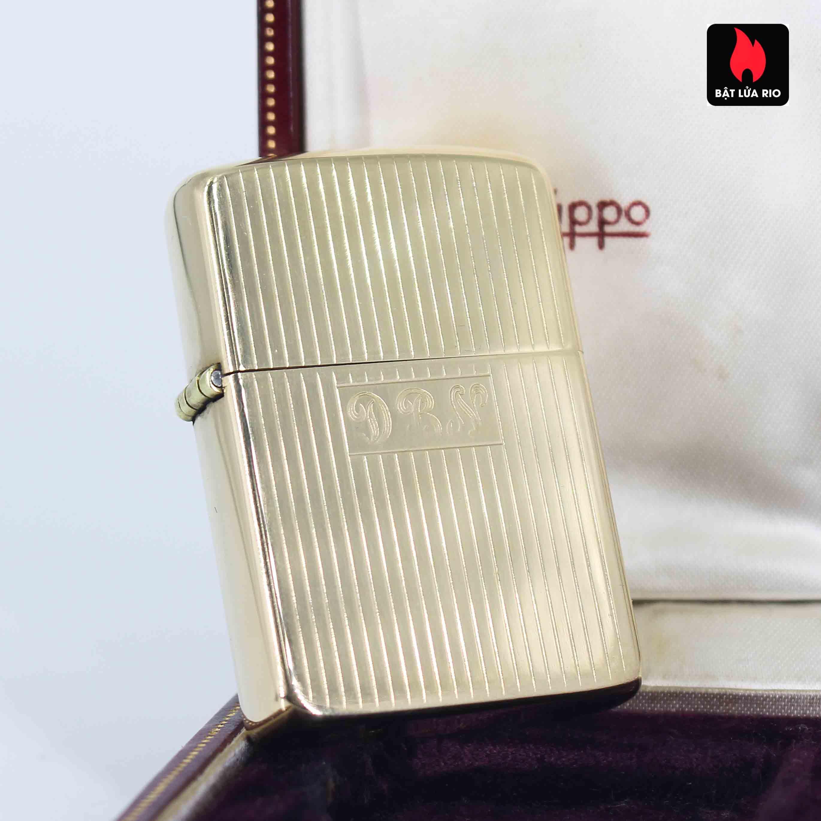 Hiếm - Zippo 1950s - Solid Gold 14k - Vàng Nguyên Khối 14k