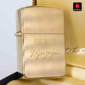 Zippo 1960s – 10K Gold Filled – Bọc Vàng 10K – Best Wishes