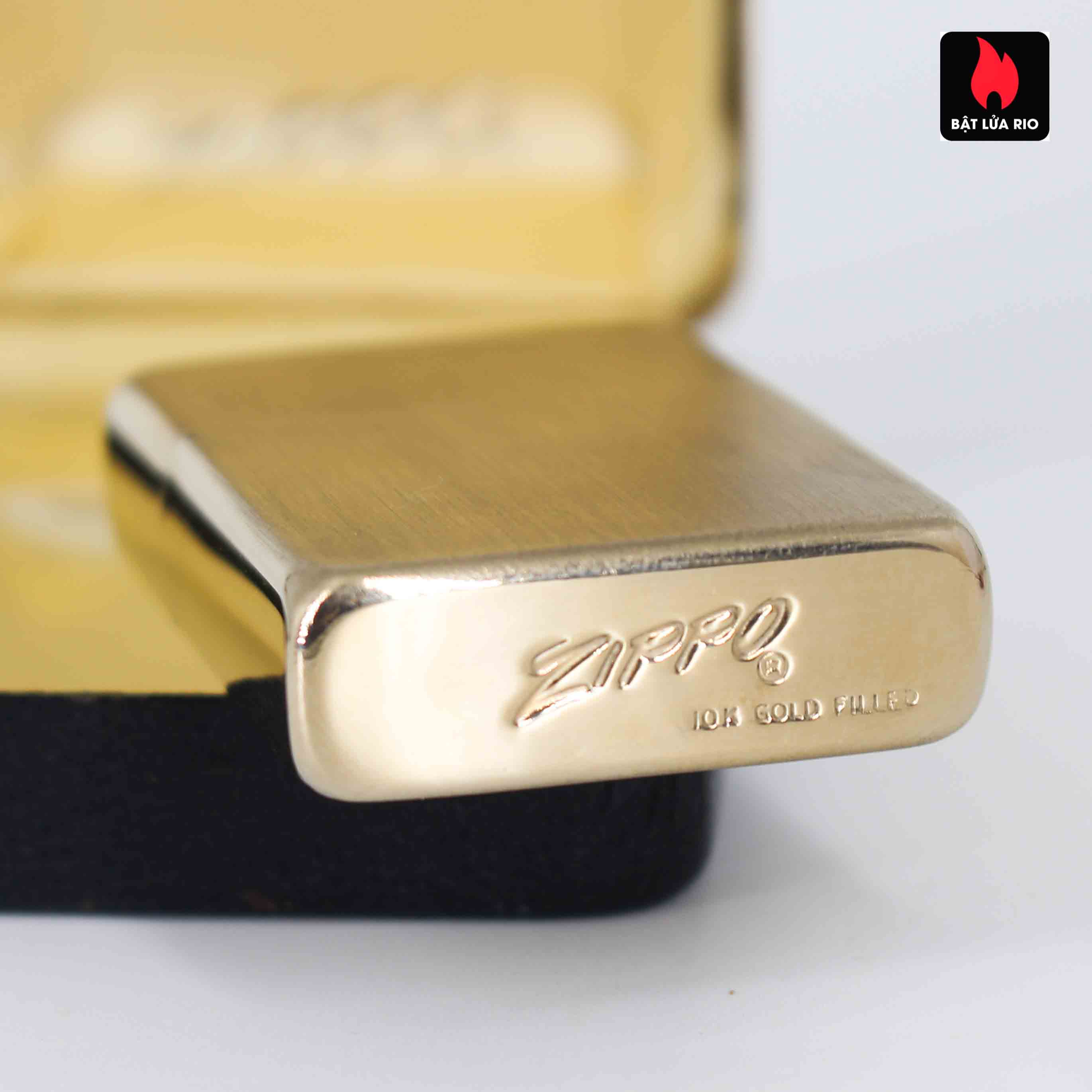 Zippo 1960s – 10K Gold Filled – Bọc Vàng 10K – Best Wishes 4