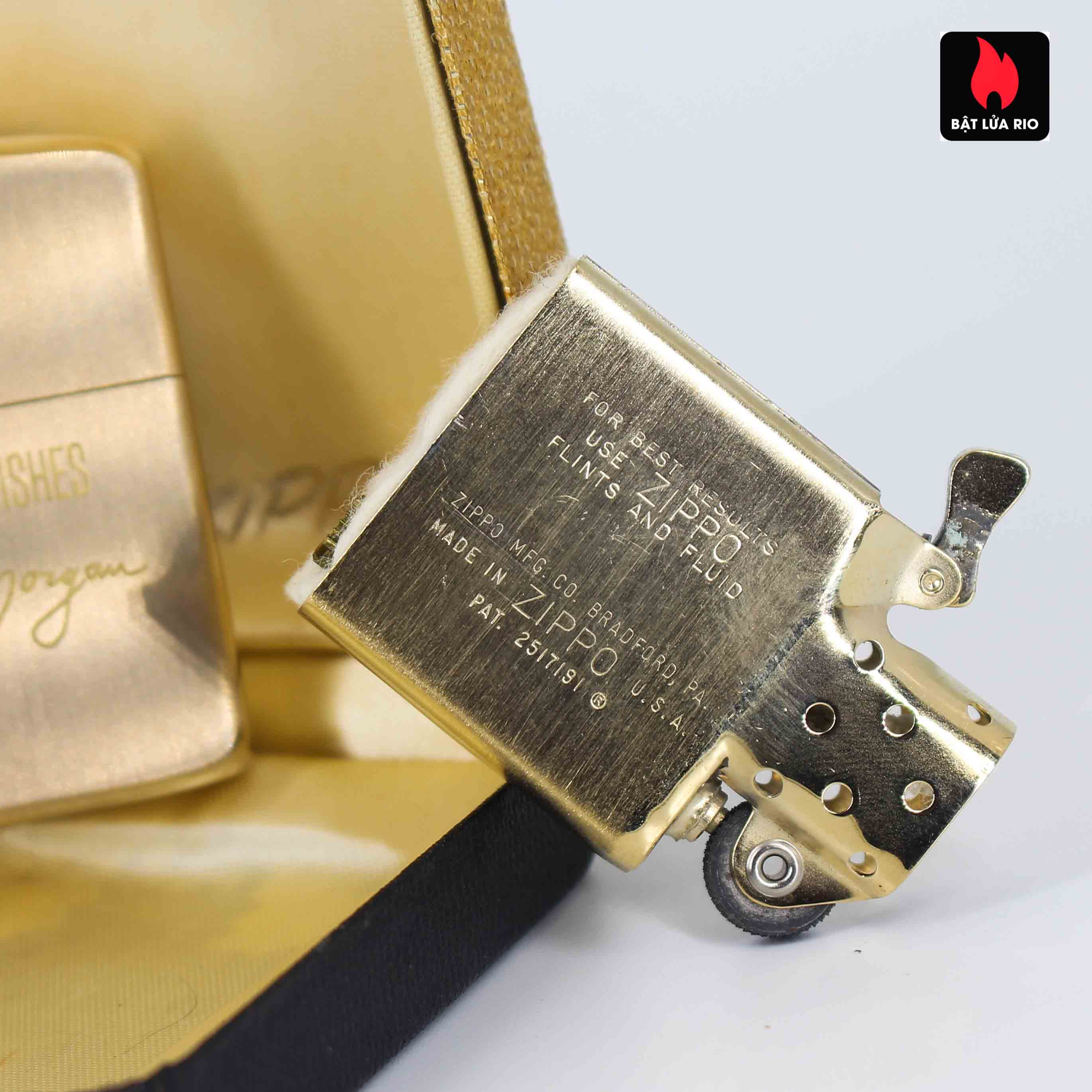 Zippo 1960s – 10K Gold Filled – Bọc Vàng 10K – Best Wishes 5