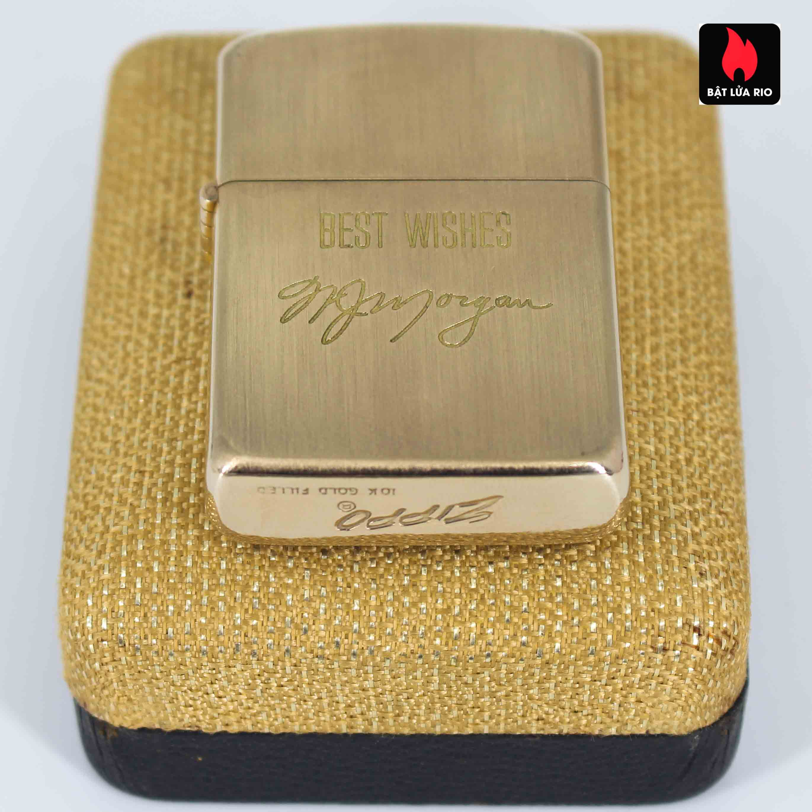 Zippo 1960s – 10K Gold Filled – Bọc Vàng 10K – Best Wishes 7