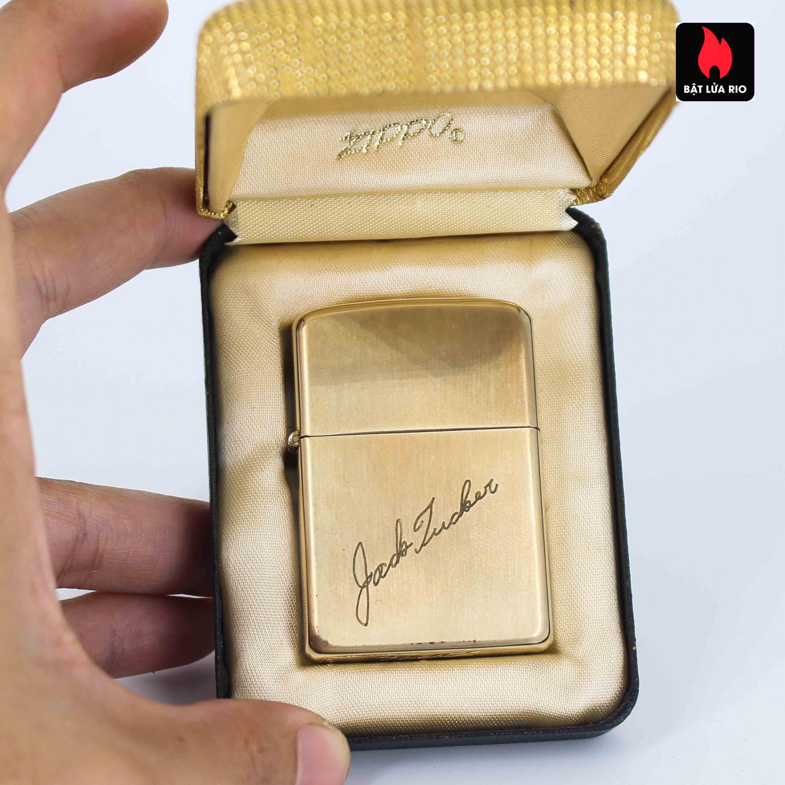 Zippo 1960s - 10K Gold Filled - Bọc Vàng 10K - Chữ Ký 1