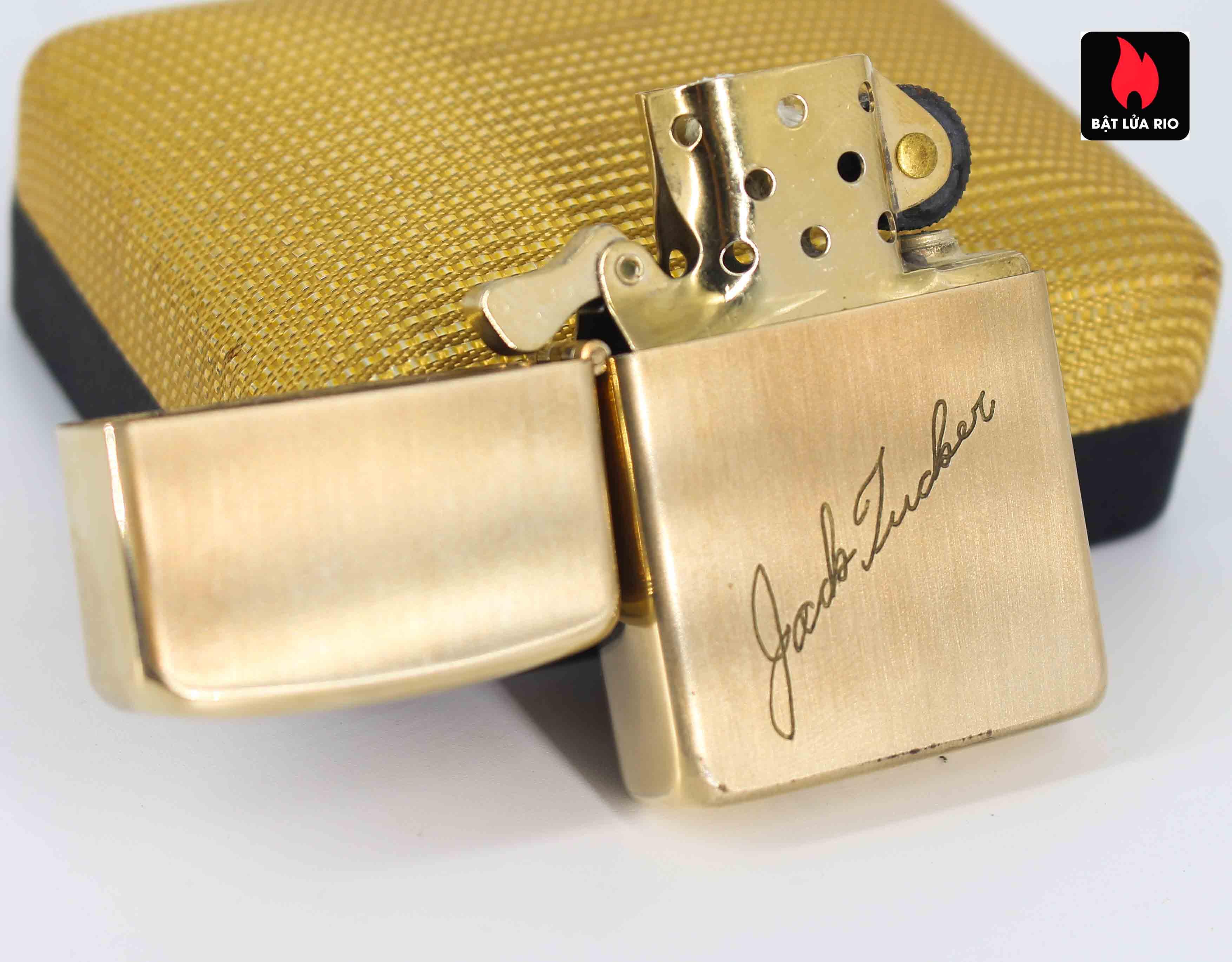 Zippo 1960s - 10K Gold Filled - Bọc Vàng 10K - Chữ Ký 10