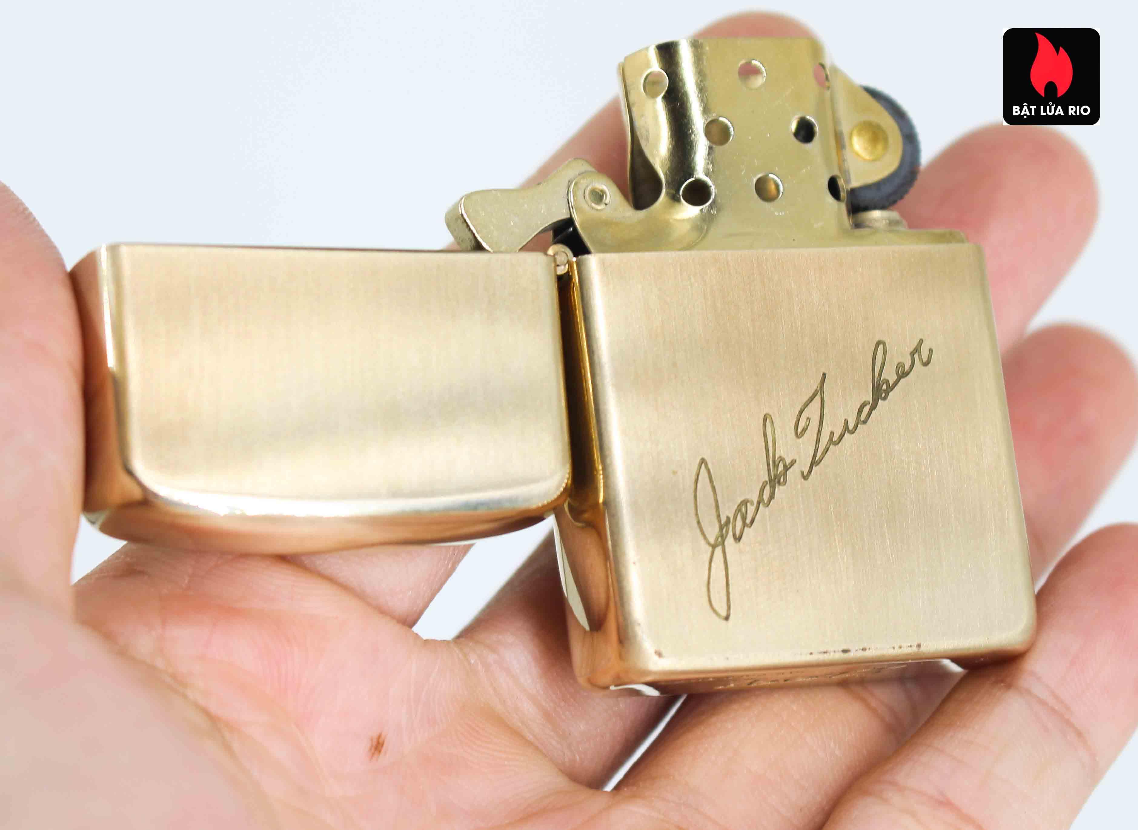 Zippo 1960s - 10K Gold Filled - Bọc Vàng 10K - Chữ Ký 13