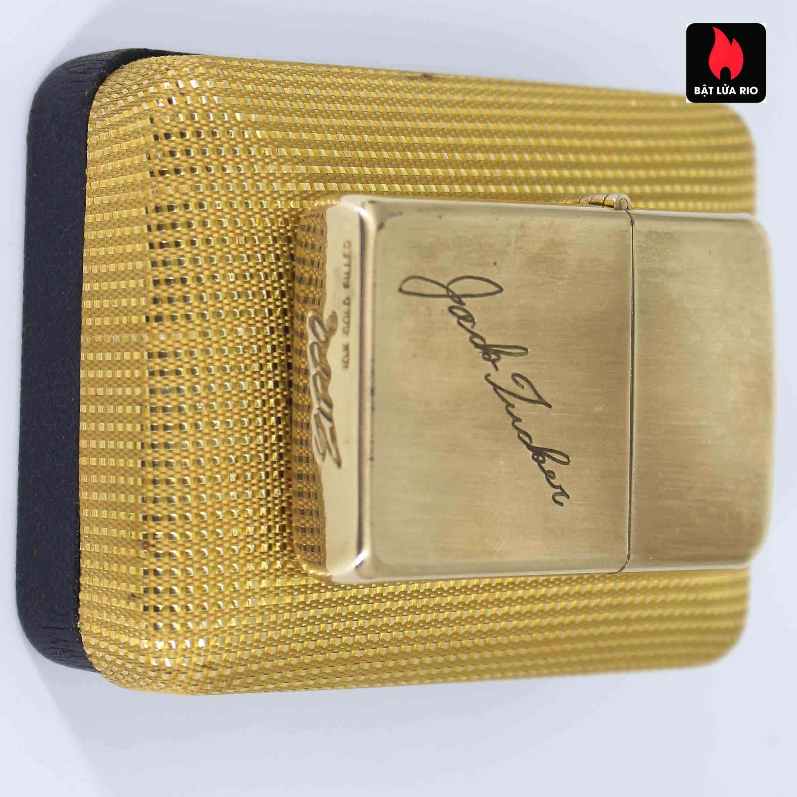 Zippo 1960s - 10K Gold Filled - Bọc Vàng 10K - Chữ Ký 6
