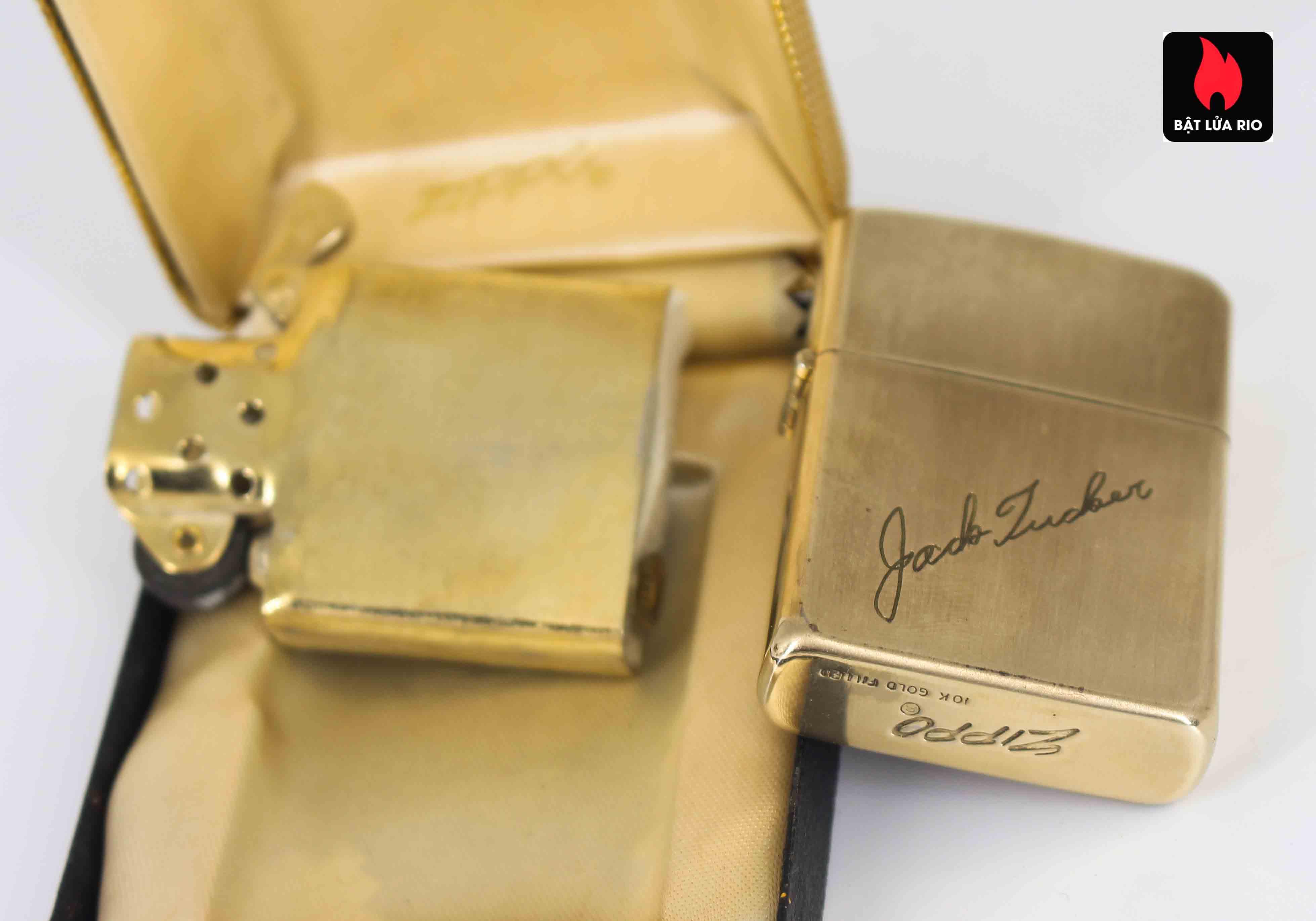 Zippo 1960s - 10K Gold Filled - Bọc Vàng 10K - Chữ Ký 8
