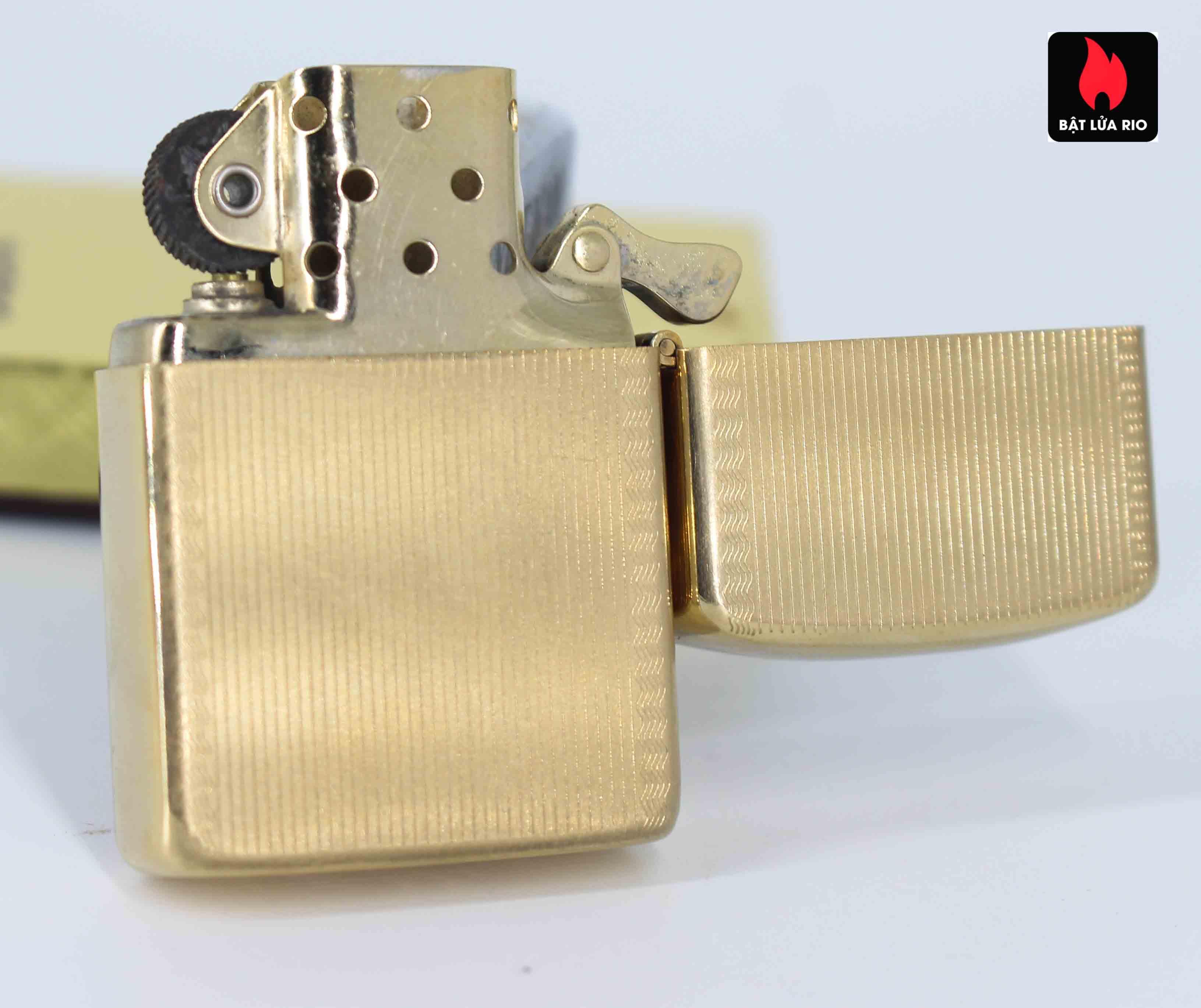 Zippo 1960s – 10K Gold Filled – Bọc Vàng 10K – Hoa Văn Sang Trọng 10