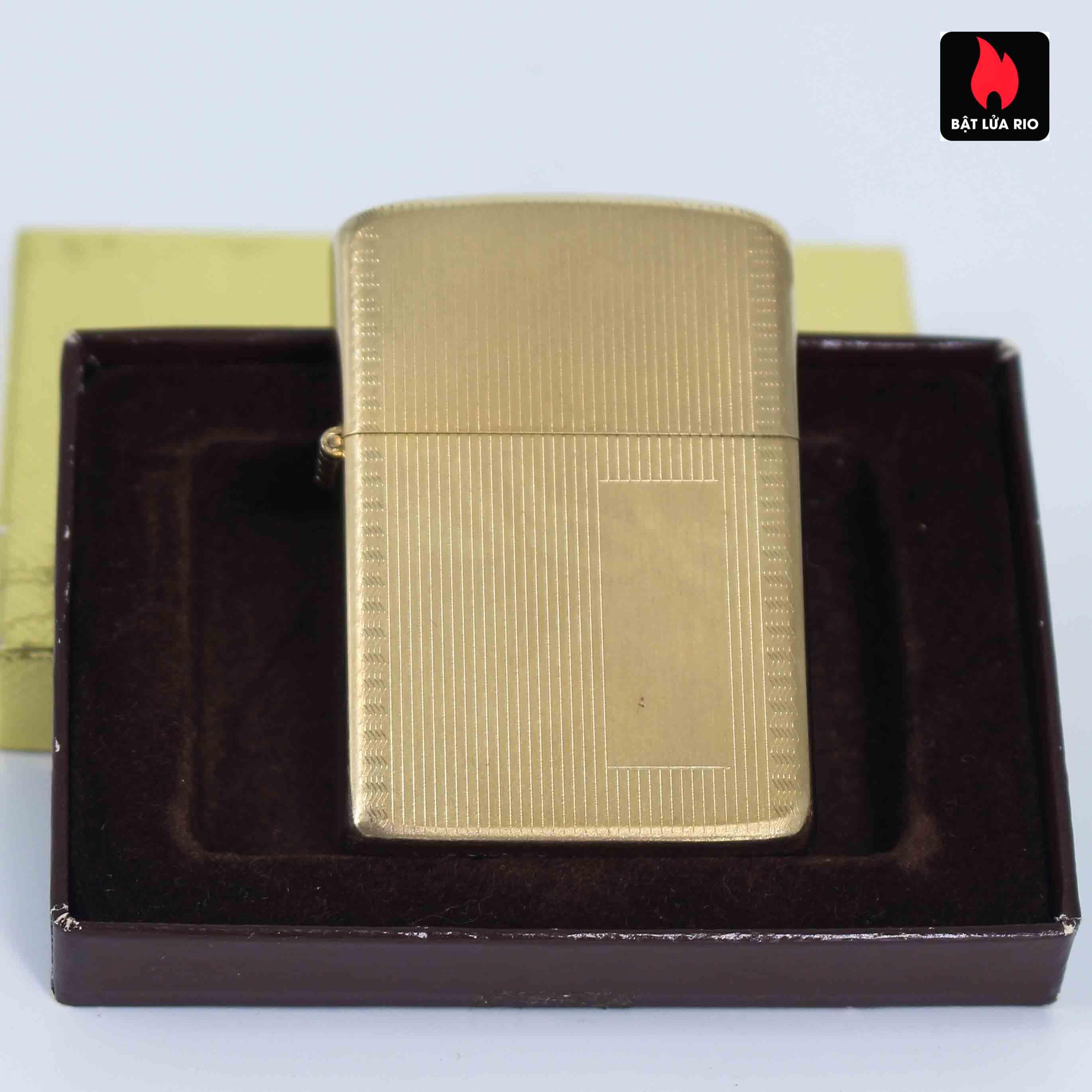 Zippo 1960s – 10K Gold Filled – Bọc Vàng 10K – Hoa Văn Sang Trọng 2