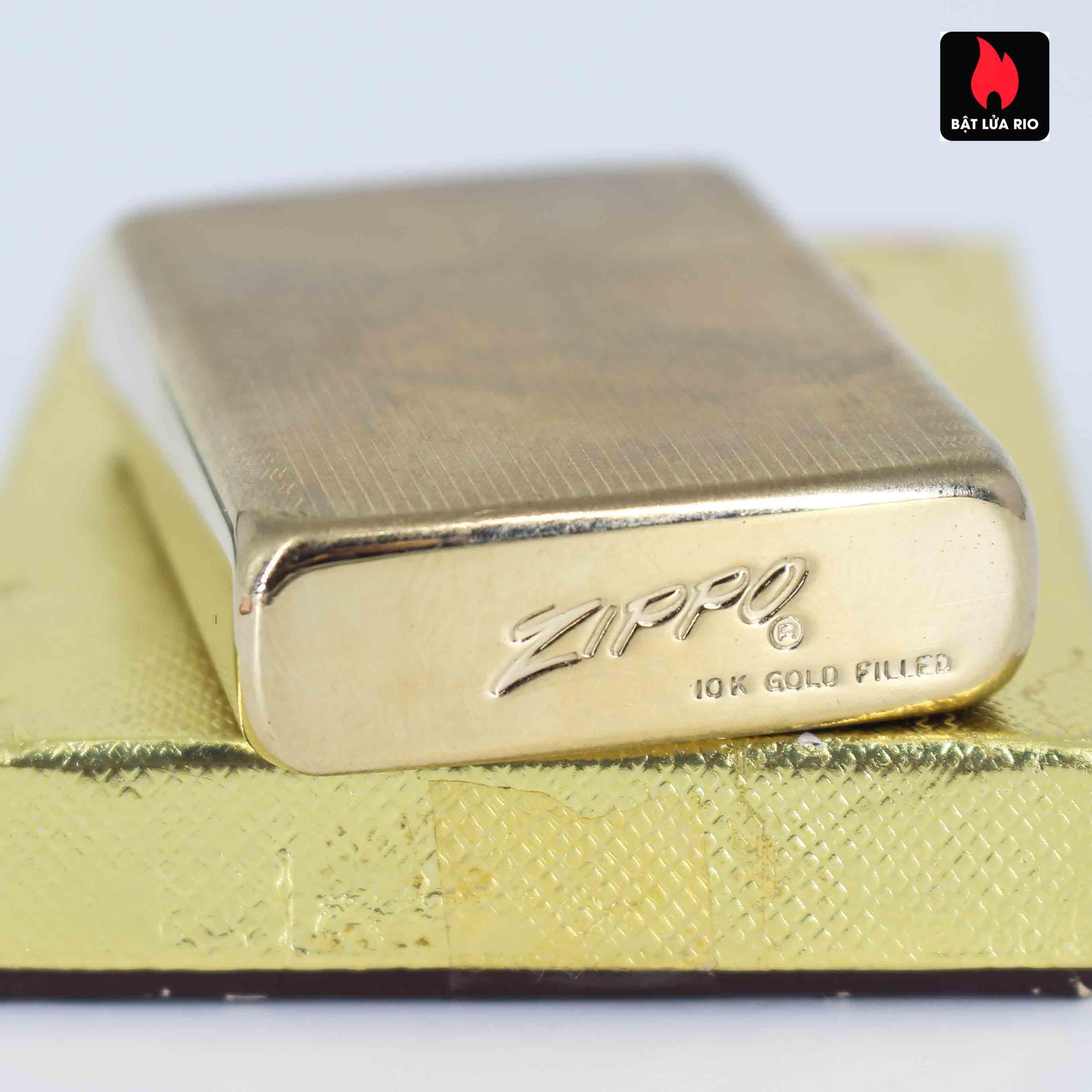 Zippo 1960s – 10K Gold Filled – Bọc Vàng 10K – Hoa Văn Sang Trọng 4