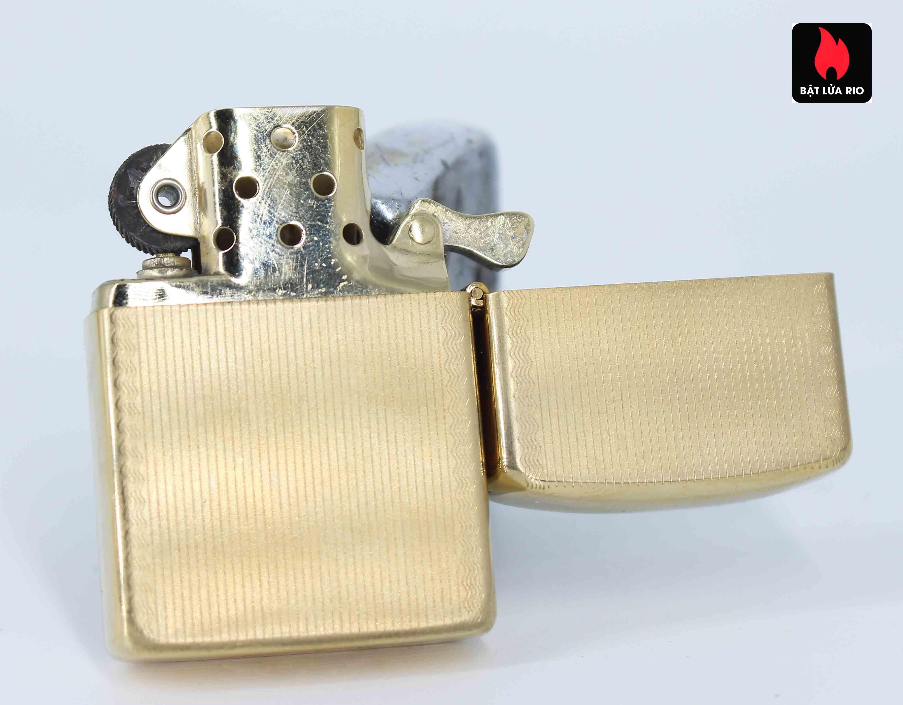 Zippo 1960s – 10K Gold Filled – Bọc Vàng 10K – Hoa Văn Sang Trọng 6