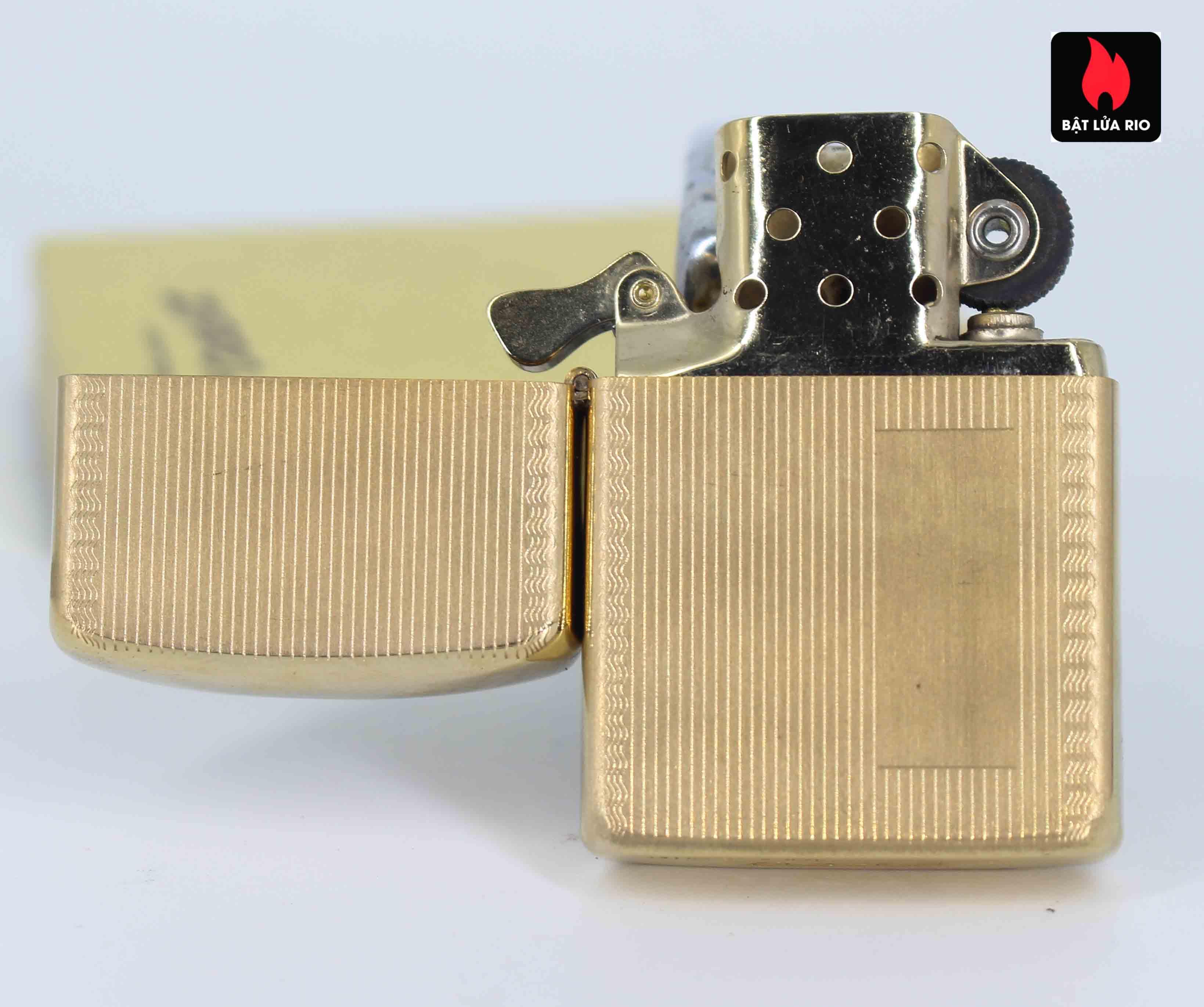 Zippo 1960s – 10K Gold Filled – Bọc Vàng 10K – Hoa Văn Sang Trọng 7