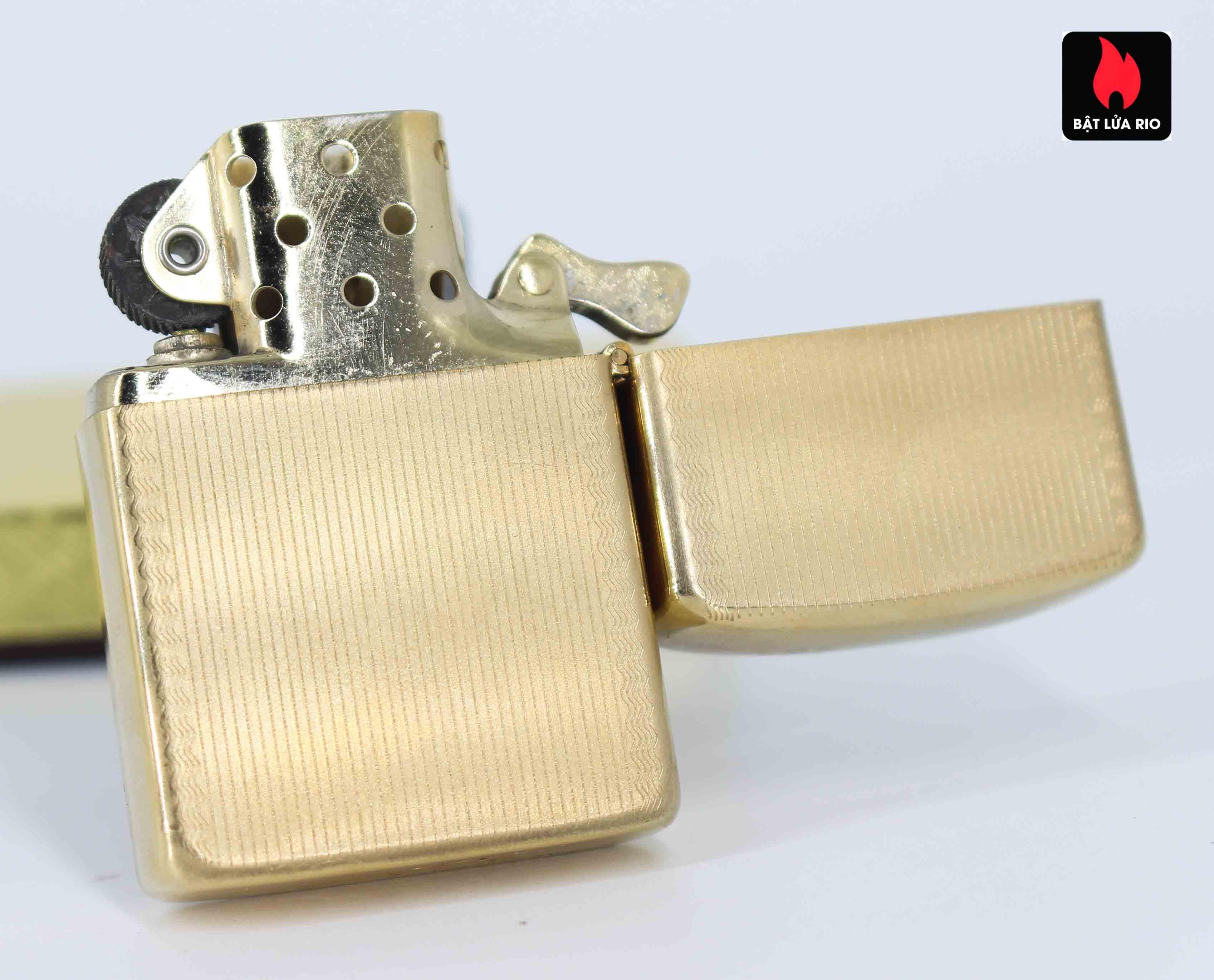 Zippo 1960s – 10K Gold Filled – Bọc Vàng 10K – Hoa Văn Sang Trọng 9
