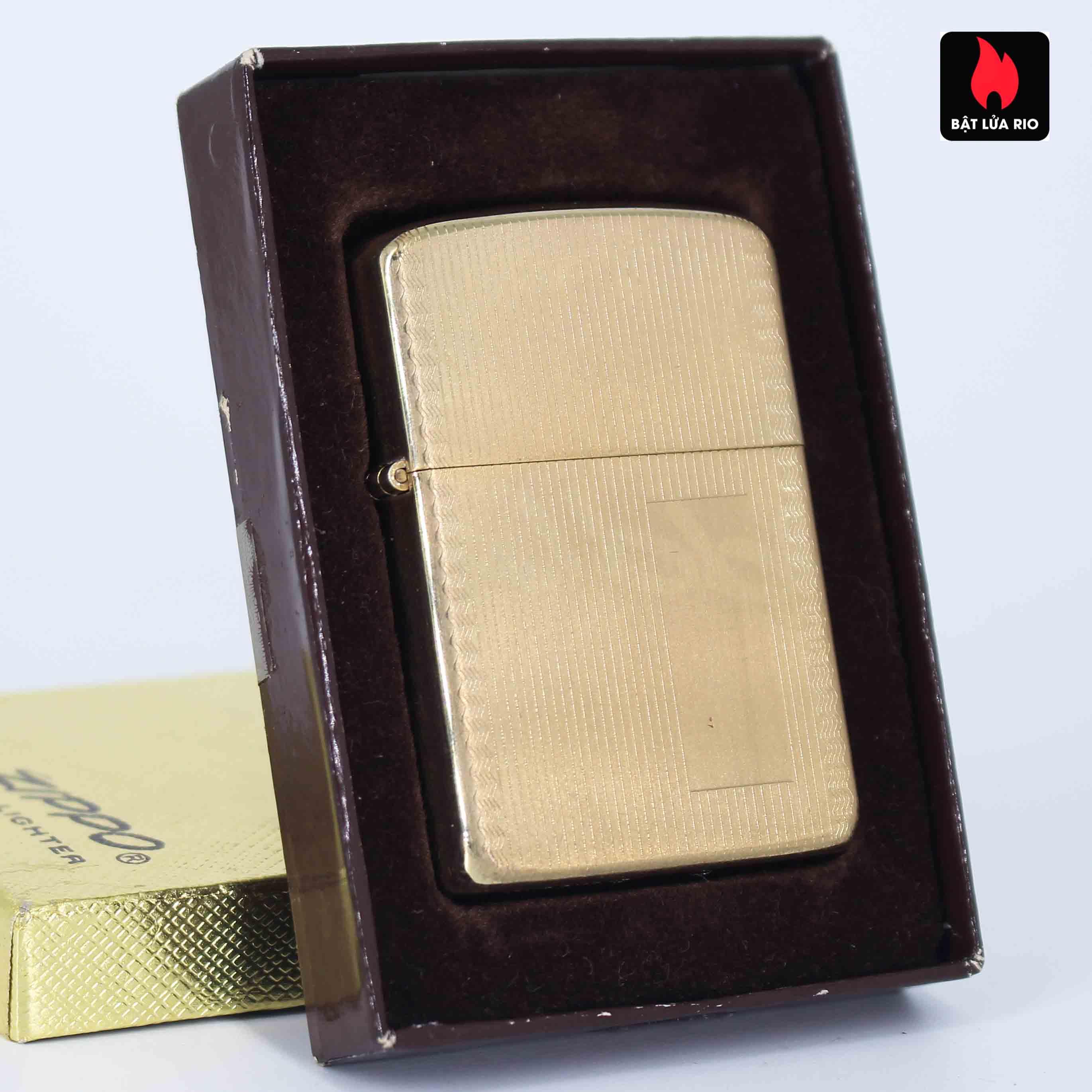 Zippo 1960s – 10K Gold Filled – Bọc Vàng 10K – Hoa Văn Sang Trọng