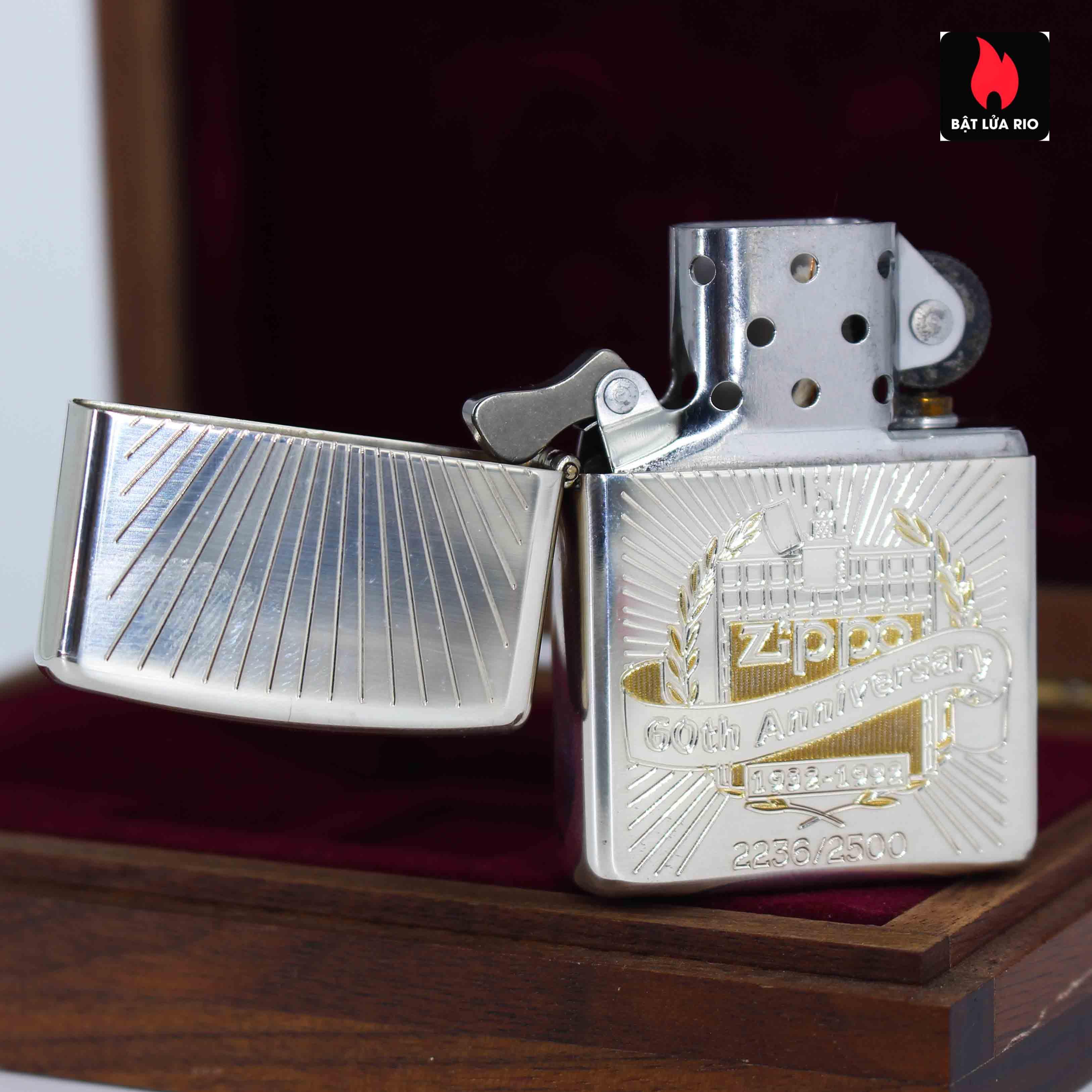 Zippo 1992 - Sterling Silver - 60th Anniversary 10