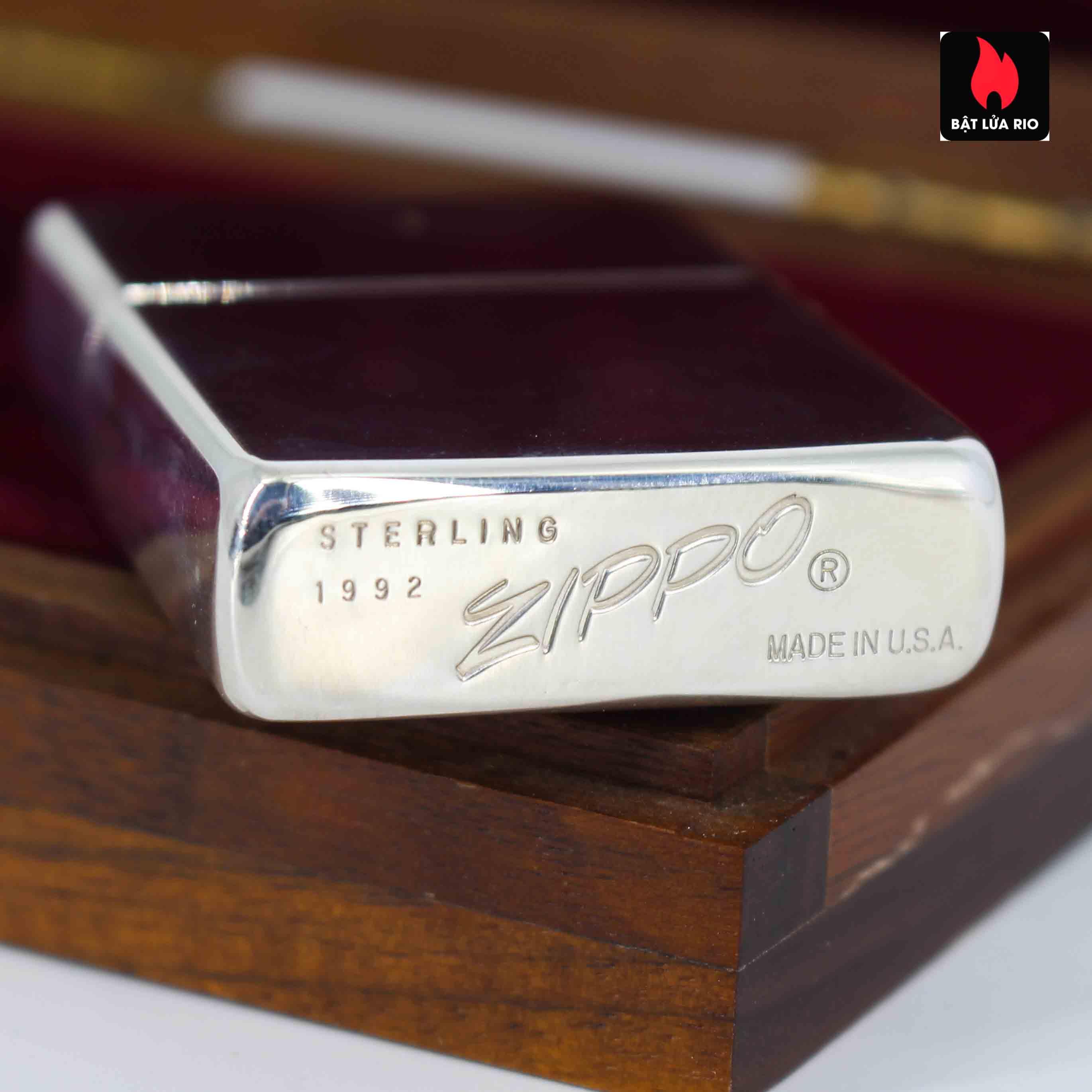 Zippo 1992 - Sterling Silver - 60th Anniversary 7