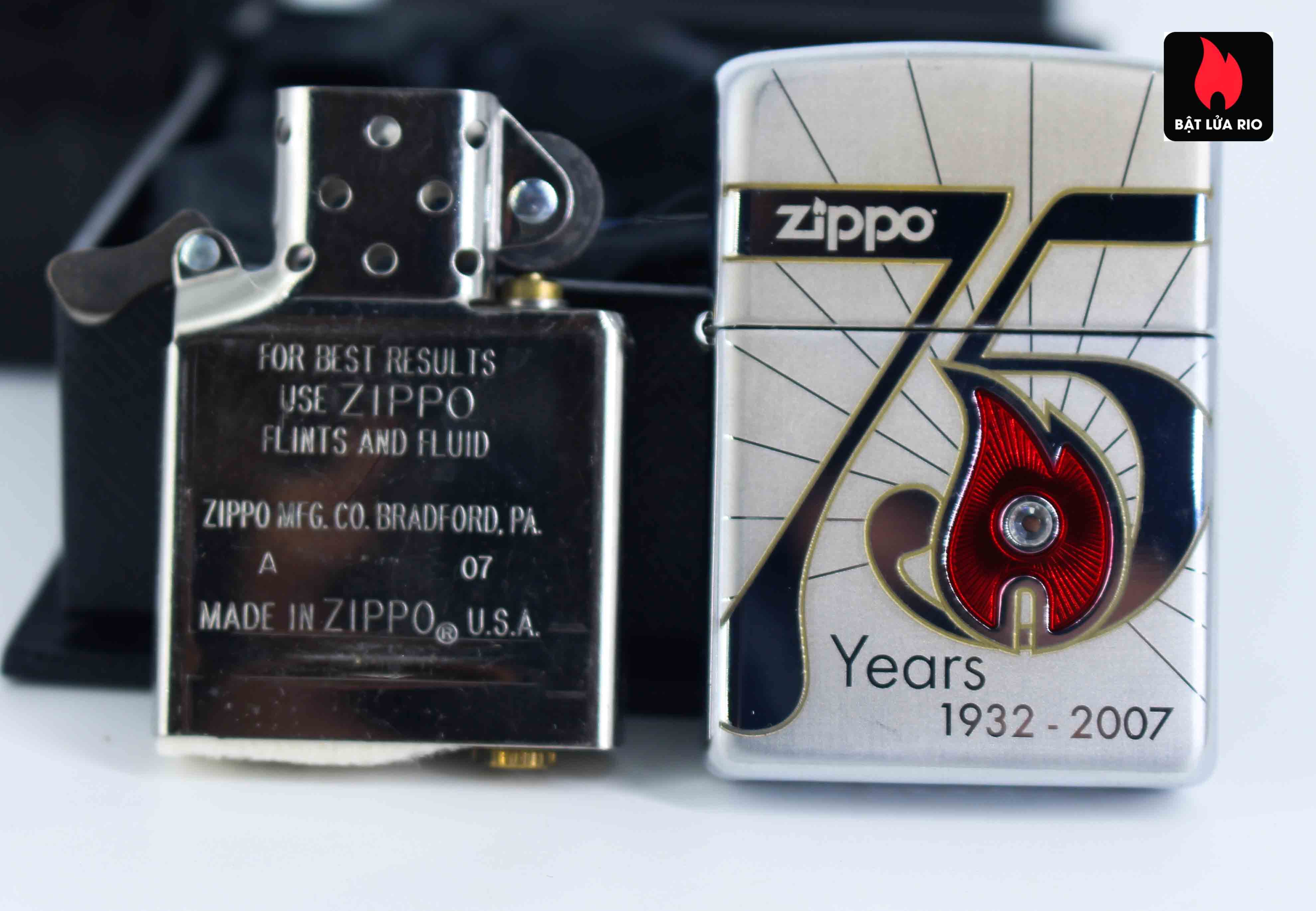 Zippo 2007 – 75th Anniversary Edition – Germany – Limited GER 1 Of 1500 8