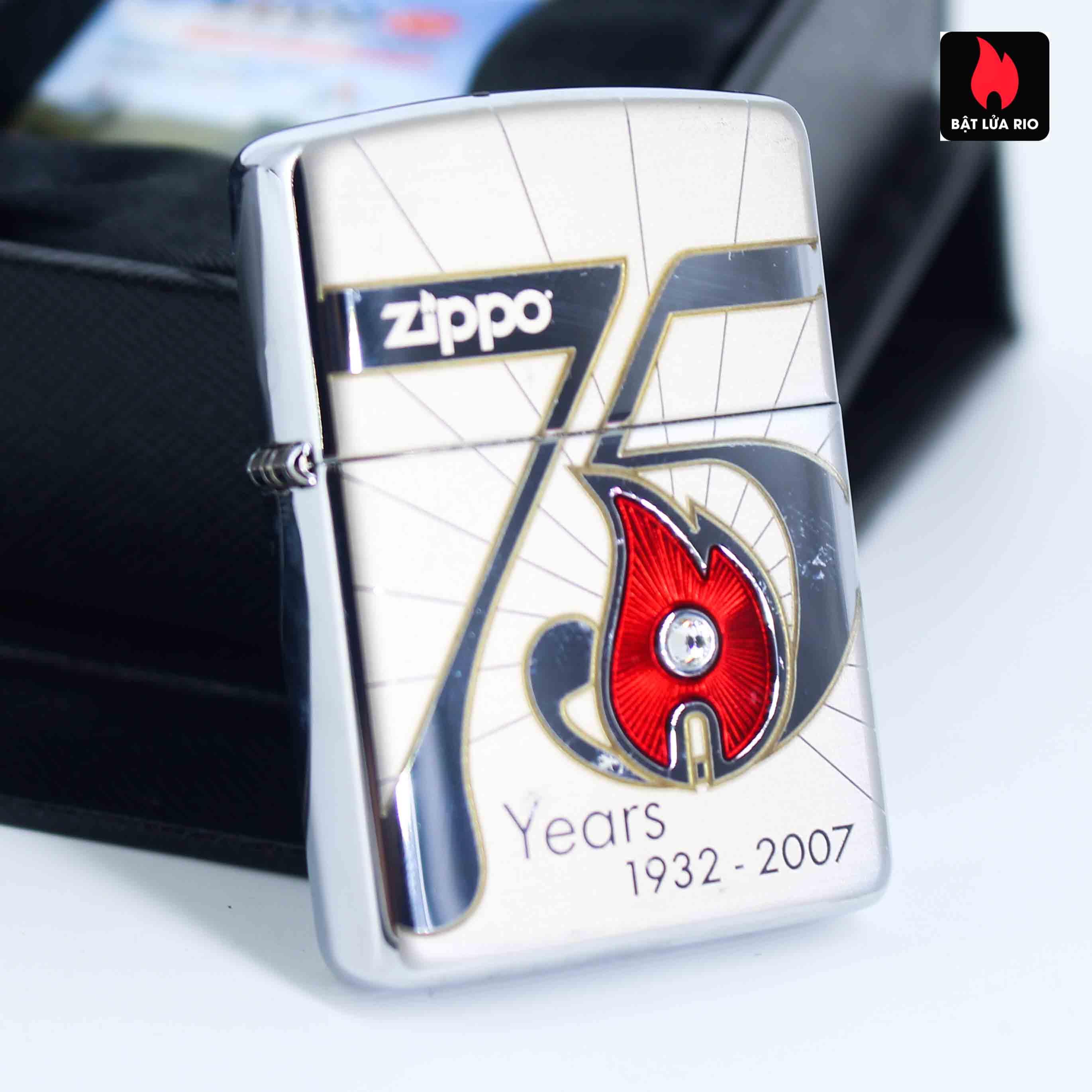 Zippo 2007 – 75th Anniversary Edition – Japan – Limited JPN 1 Of 4000