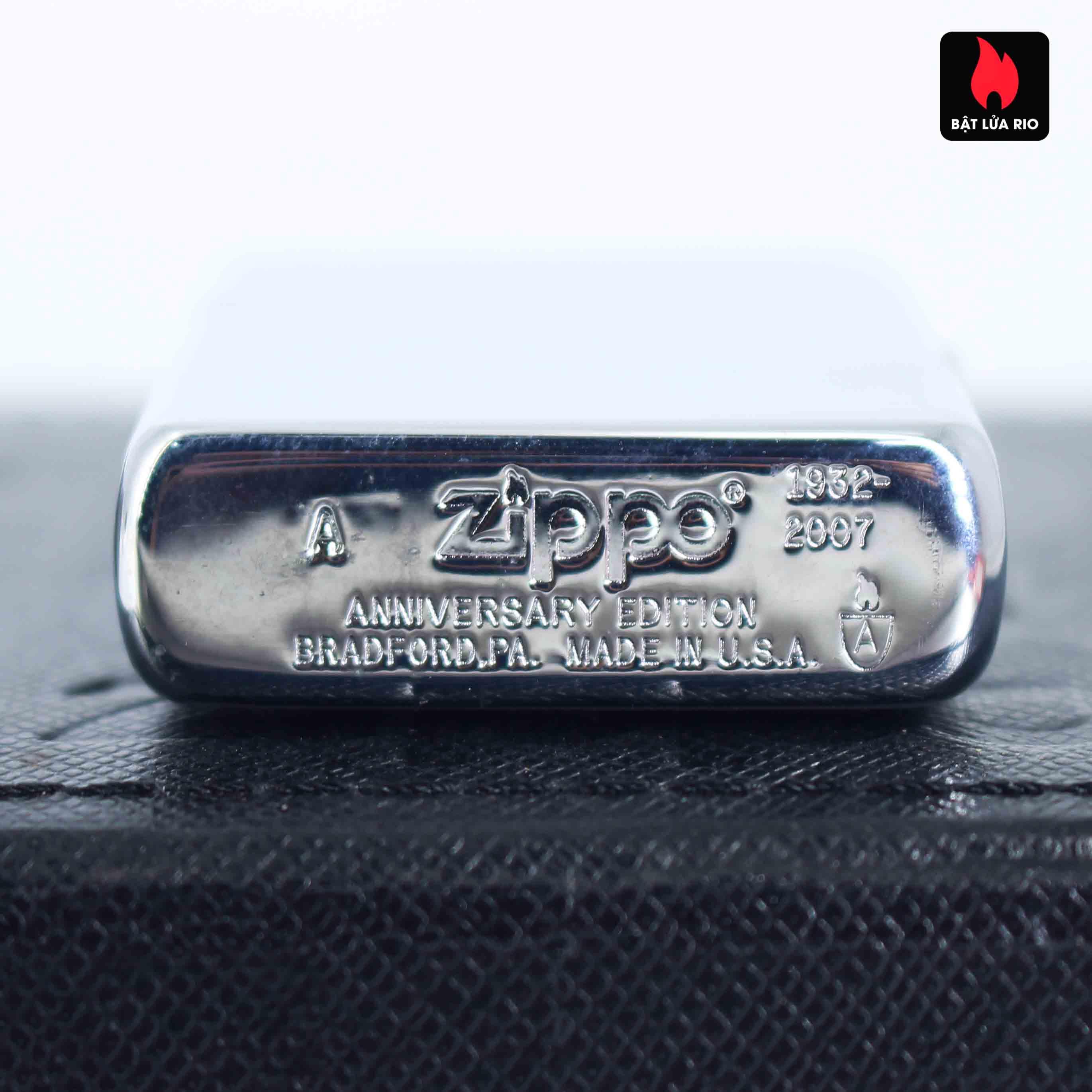 Zippo 2007 – 75th Anniversary Edition – United Kingdom – Limited GRB 1 Of 500 6