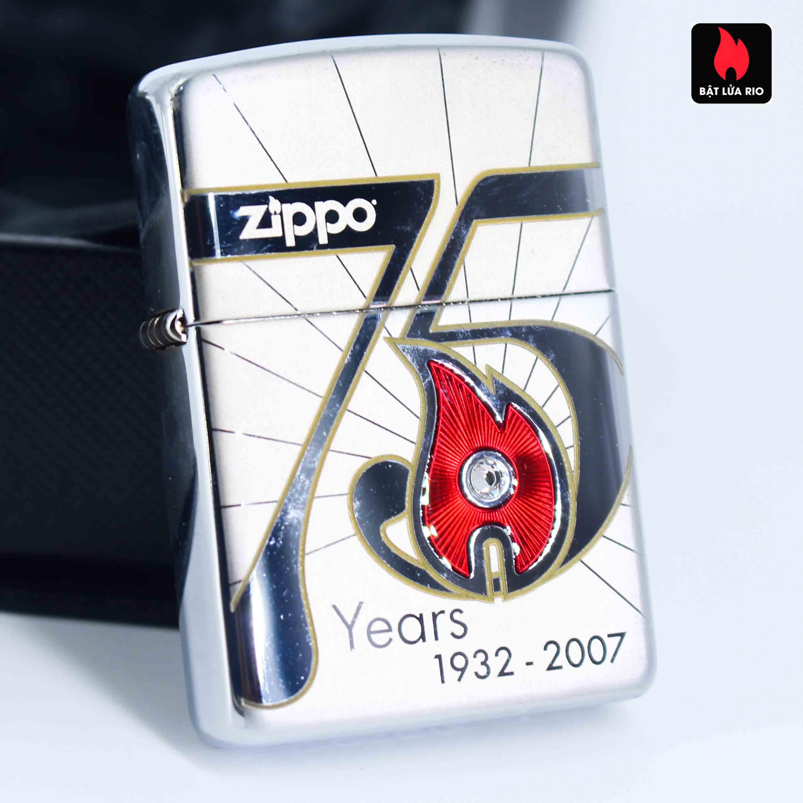 Zippo 2007 – 75th Anniversary Edition – United Kingdom – Limited GRB 1 Of 500