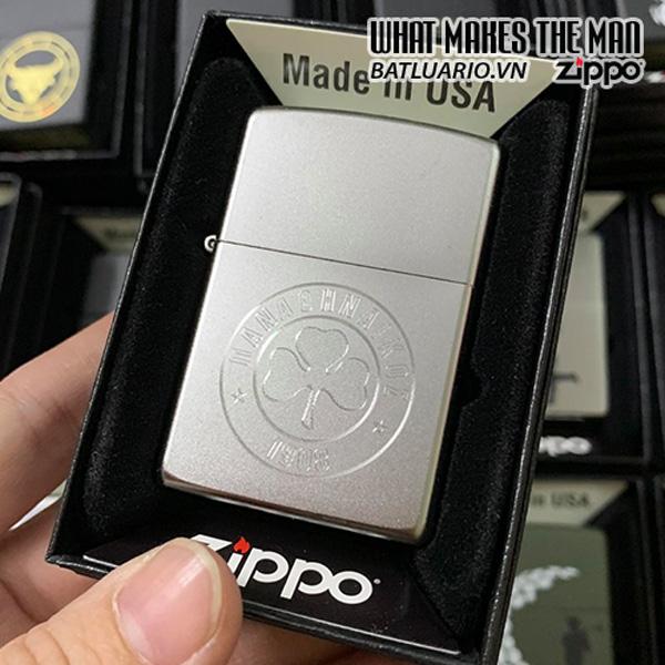 Zippo 205 Green Engr BK126 Clover