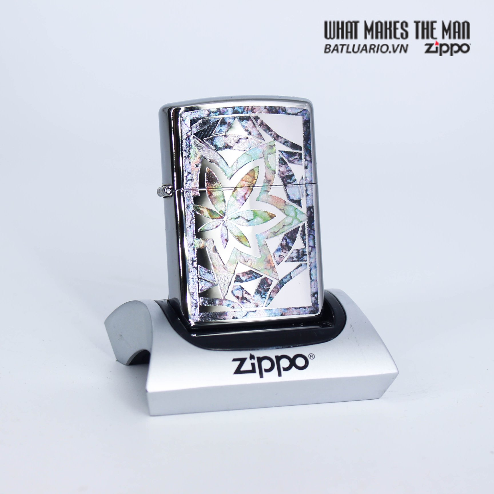 Zippo 29727 - Zippo Fusion Leaf High Polish Chrome 2