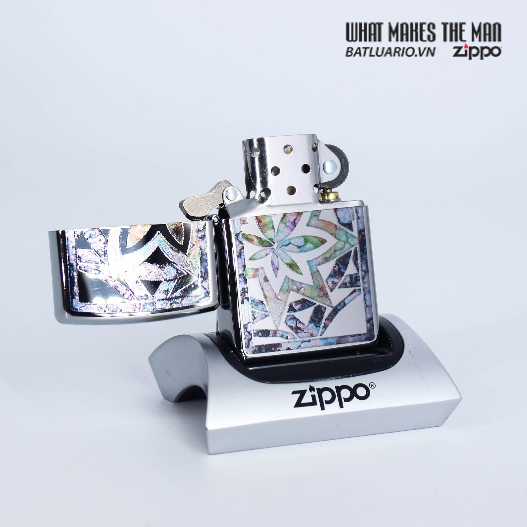Zippo 29727 - Zippo Fusion Leaf High Polish Chrome 3