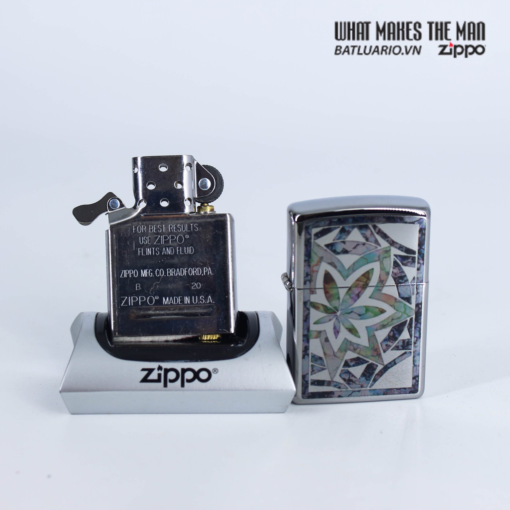 Zippo 29727 - Zippo Fusion Leaf High Polish Chrome 8