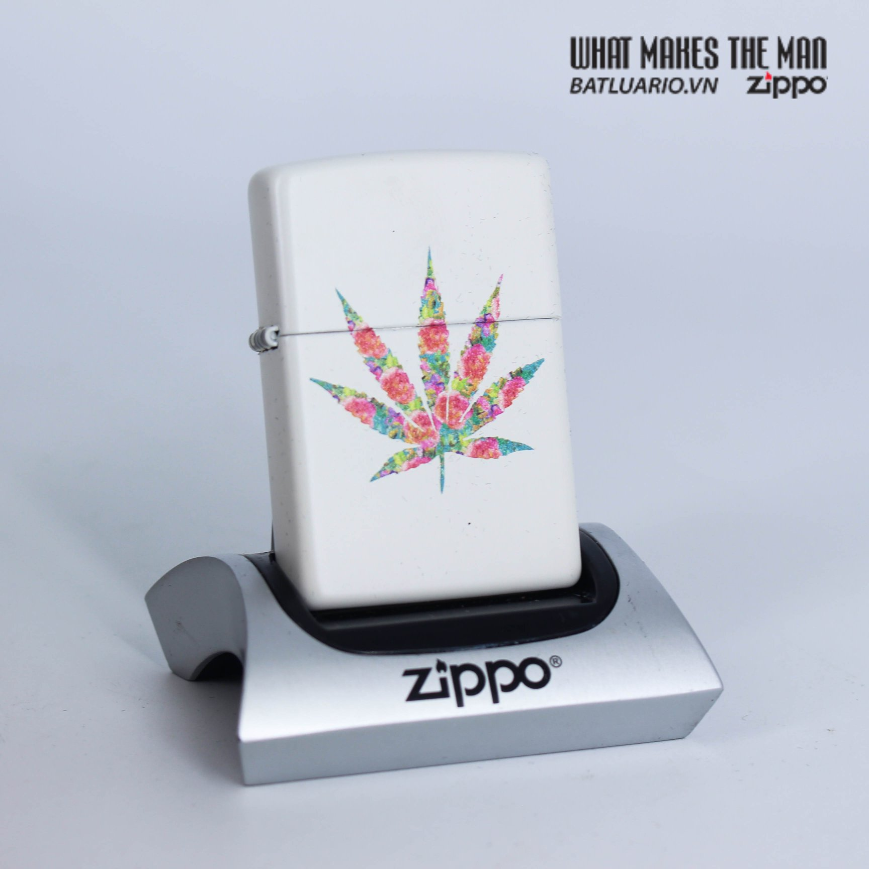 Zippo 29730 - Zippo Floral Weed White Matte 1