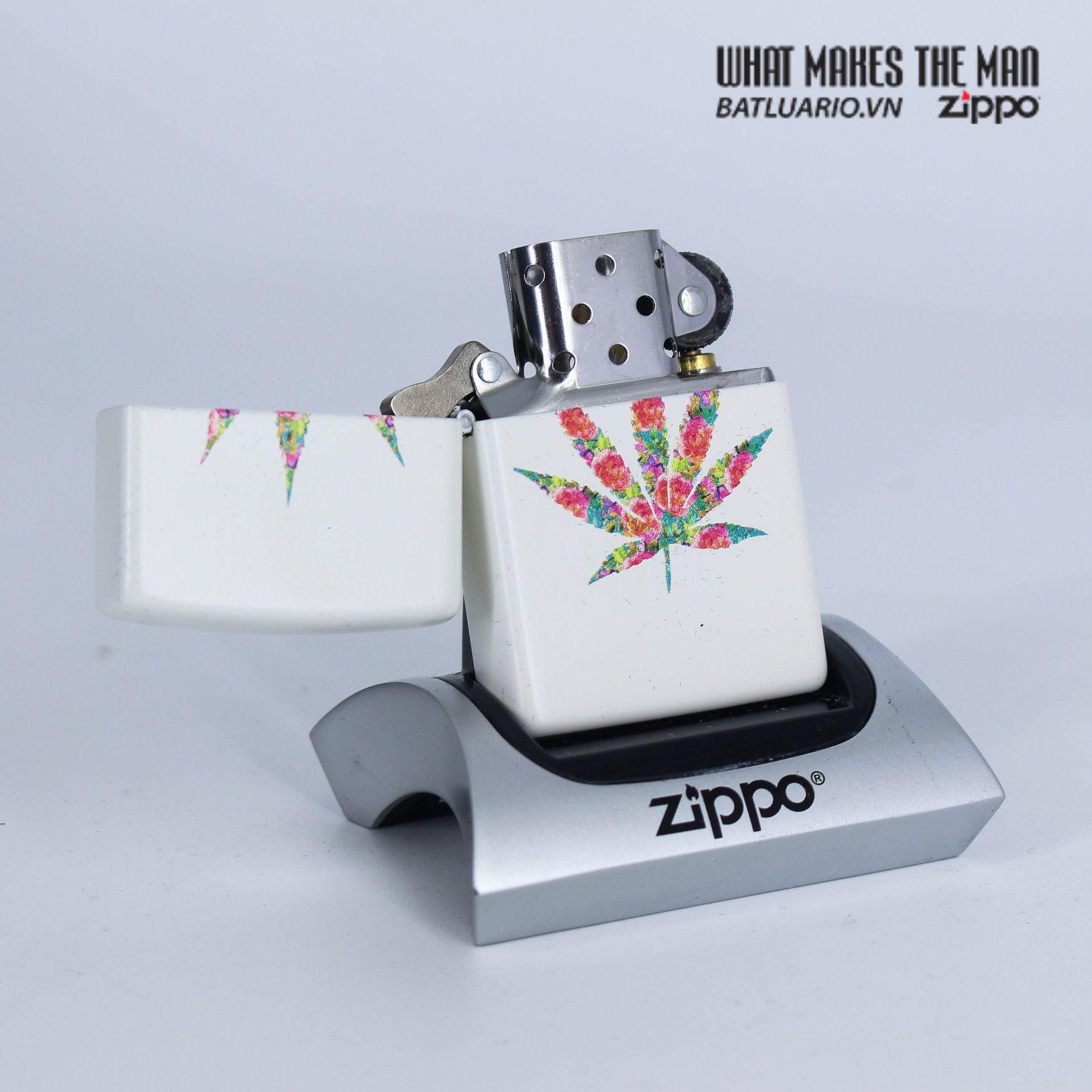 Zippo 29730 - Zippo Floral Weed White Matte 2