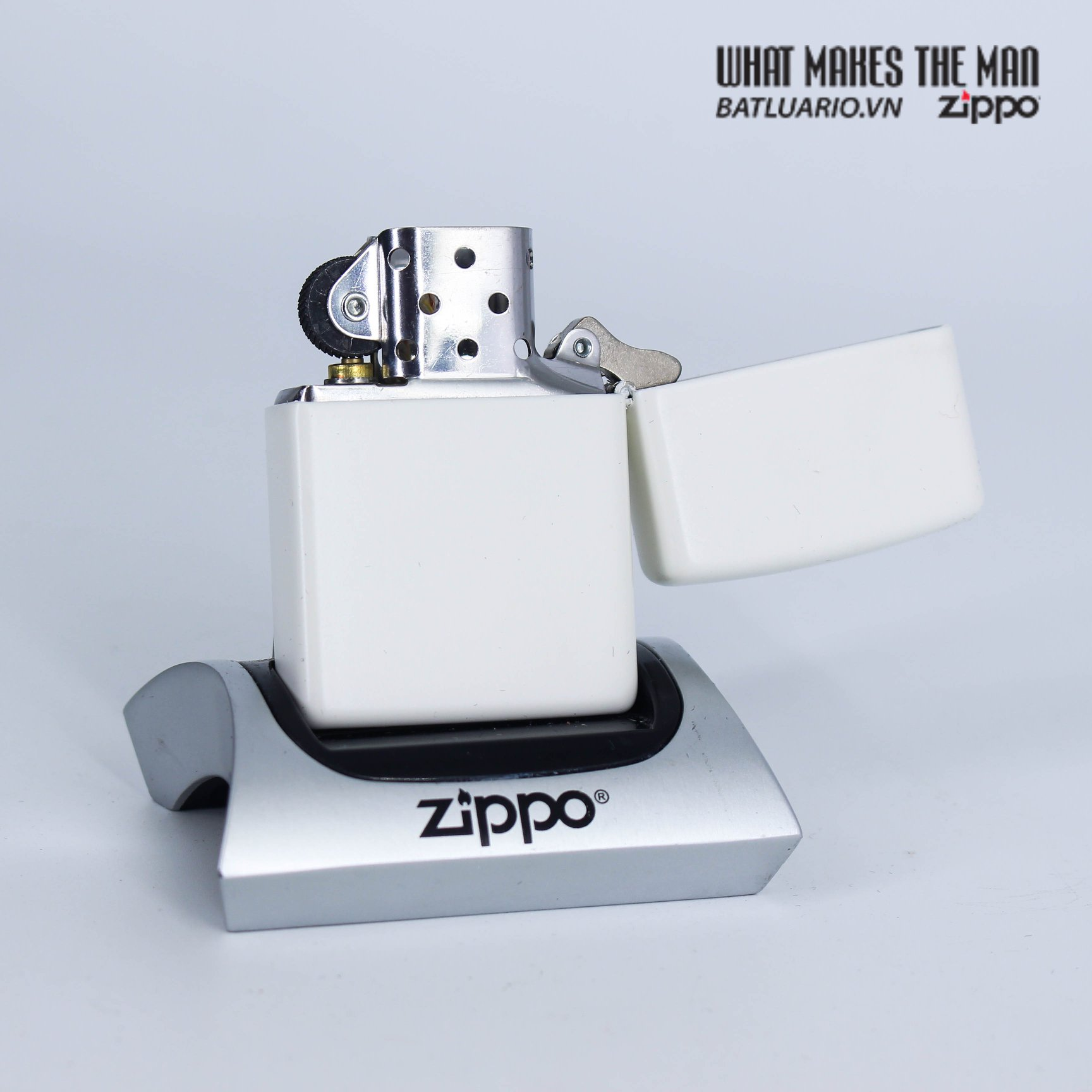 Zippo 29730 - Zippo Floral Weed White Matte 3